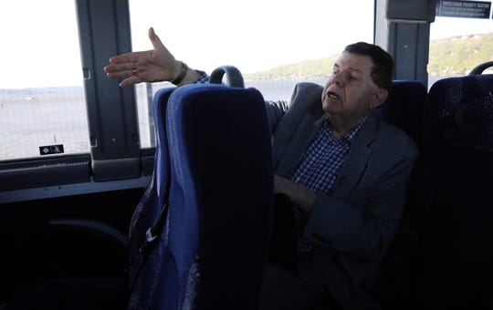 Floyd Lapp, a planner, shares his impressions of the Hudson Link bus ride, a form of Bus Rapid Transit (BRT), from the Palisades Center to White Plains April 24, 2019. Lapp, who took the ride for the first time, found crossing the Mario M. Cuomo Bridge to be the only part considered to be BRT.