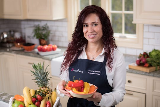 Sandra Arevalo is a Registered Dietician and Director of Nutrition Services and Community Outreach at Community Pediatrics at Montefiore and Spokesperson for AND and AADE.