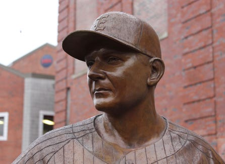 A statue of longtime Eastchester baseball coach Dom Cecere will be unveiled during the Dom Cecere Classic on April 27, 2019 at Eastchester High School.