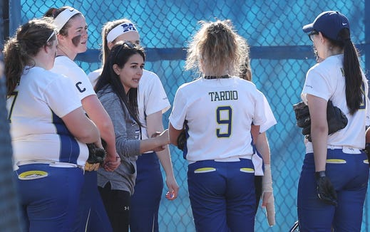 John Jay (EF) defeated Mahopac 2-0 in softball action at Mahopac High School April 24,  2019.