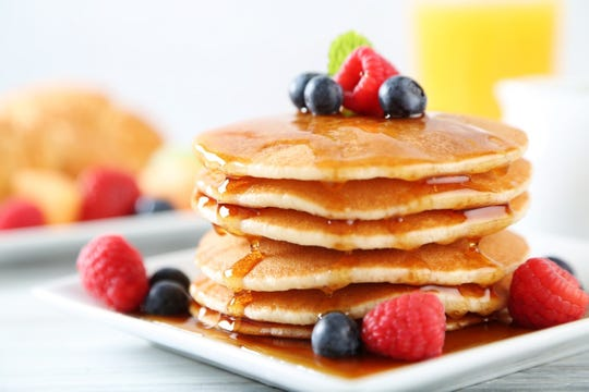 Use a whole wheat pancake mix to get more fiber and whole grains.