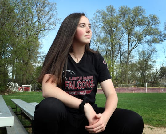 Albertus Magnus softball pitcher Kelly O'Brien is the Journal News/lohud Rockland Scholar-Athlete of the Week. April 23, 2019.