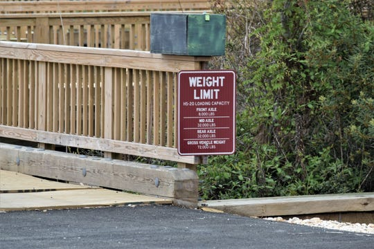 There's a weight limit for this road, which is on top of a wooden boardwalk over an isolated, unprotected marsh on private property north of Bethany Beach.