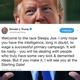 Trump tweet welcomes Joe Biden into the presidential race