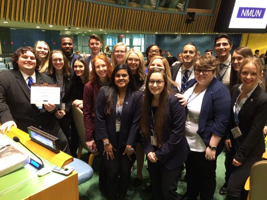 MSU Texas Model UN team represented well at a conference in NYC attended by college students from all over the world.
