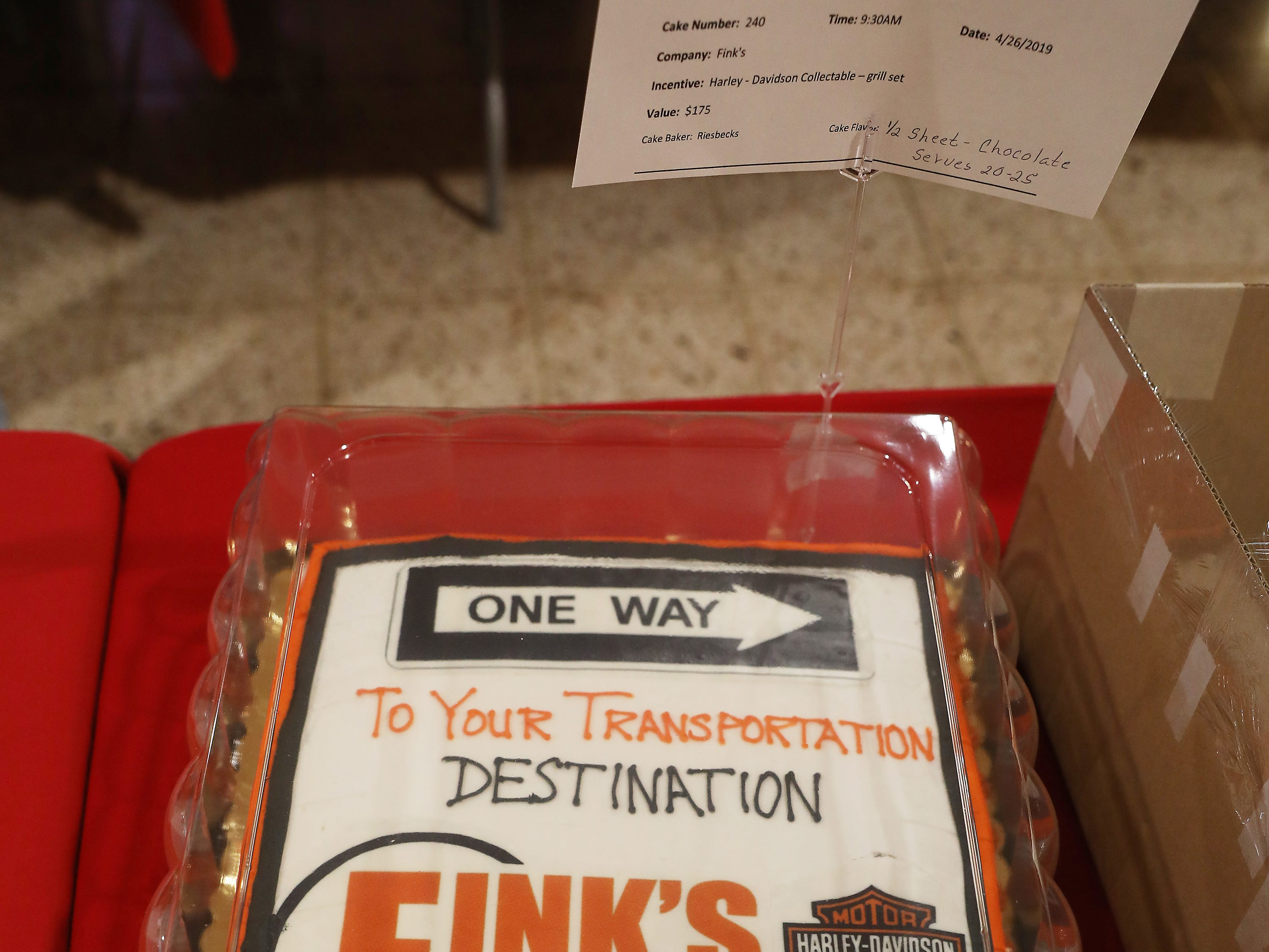 9:30 A.M. Friday cake 240 Fink's - Harley-Davidson collectable; $175