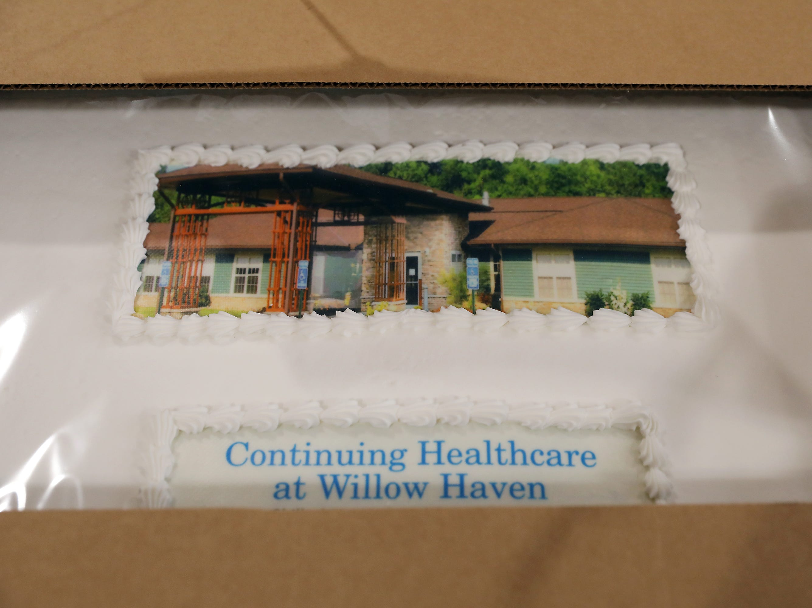 3:15 P.M. Friday cake 353 Willow Haven Skilled Nursing and Rehabilitation - 1 hour massage, basket of wine, cheese, candles; $150