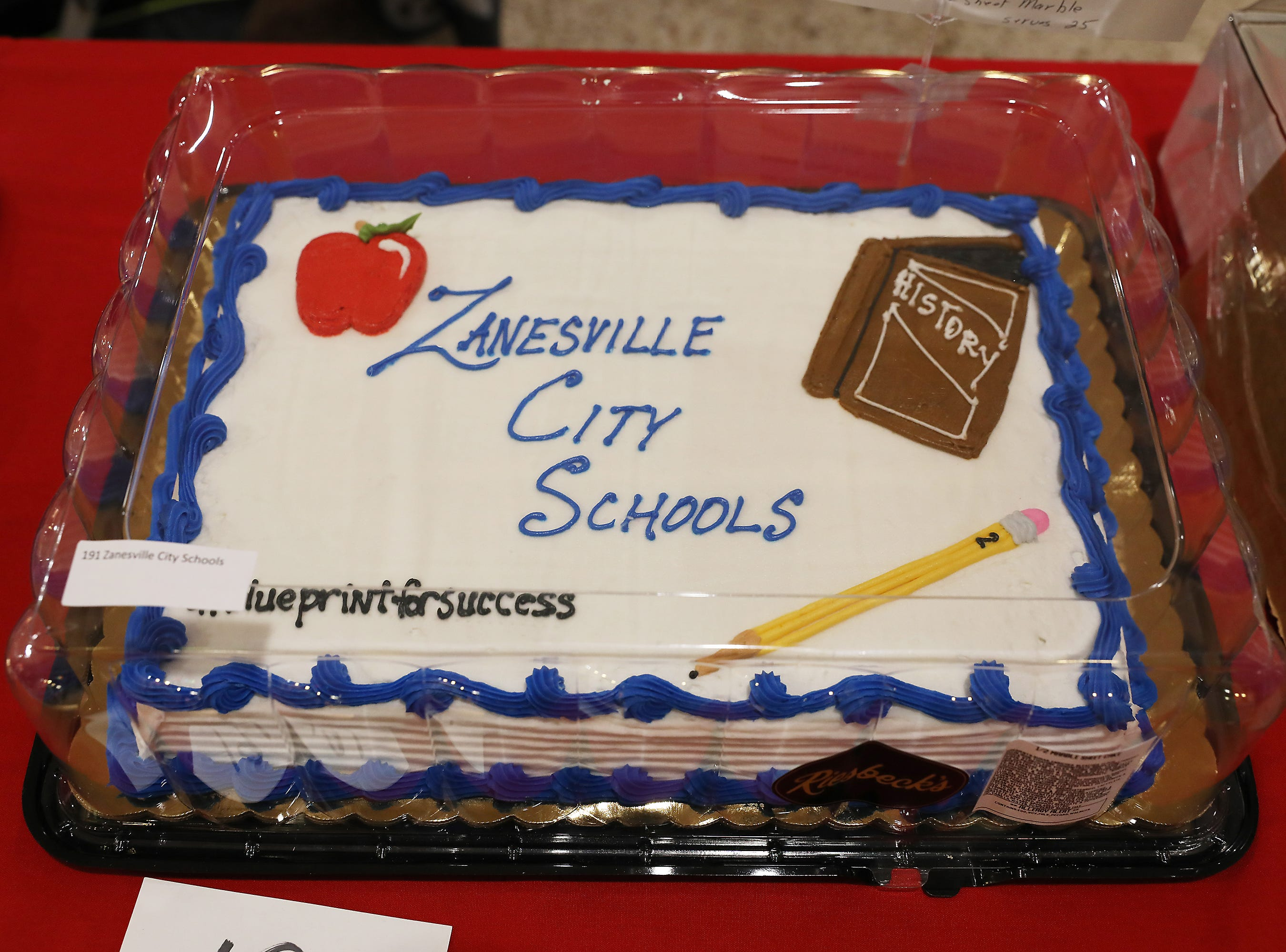 5:15 P.M. Thursday cake 191 Zanesville City Schools - 2 fall/winter sports passes; $320