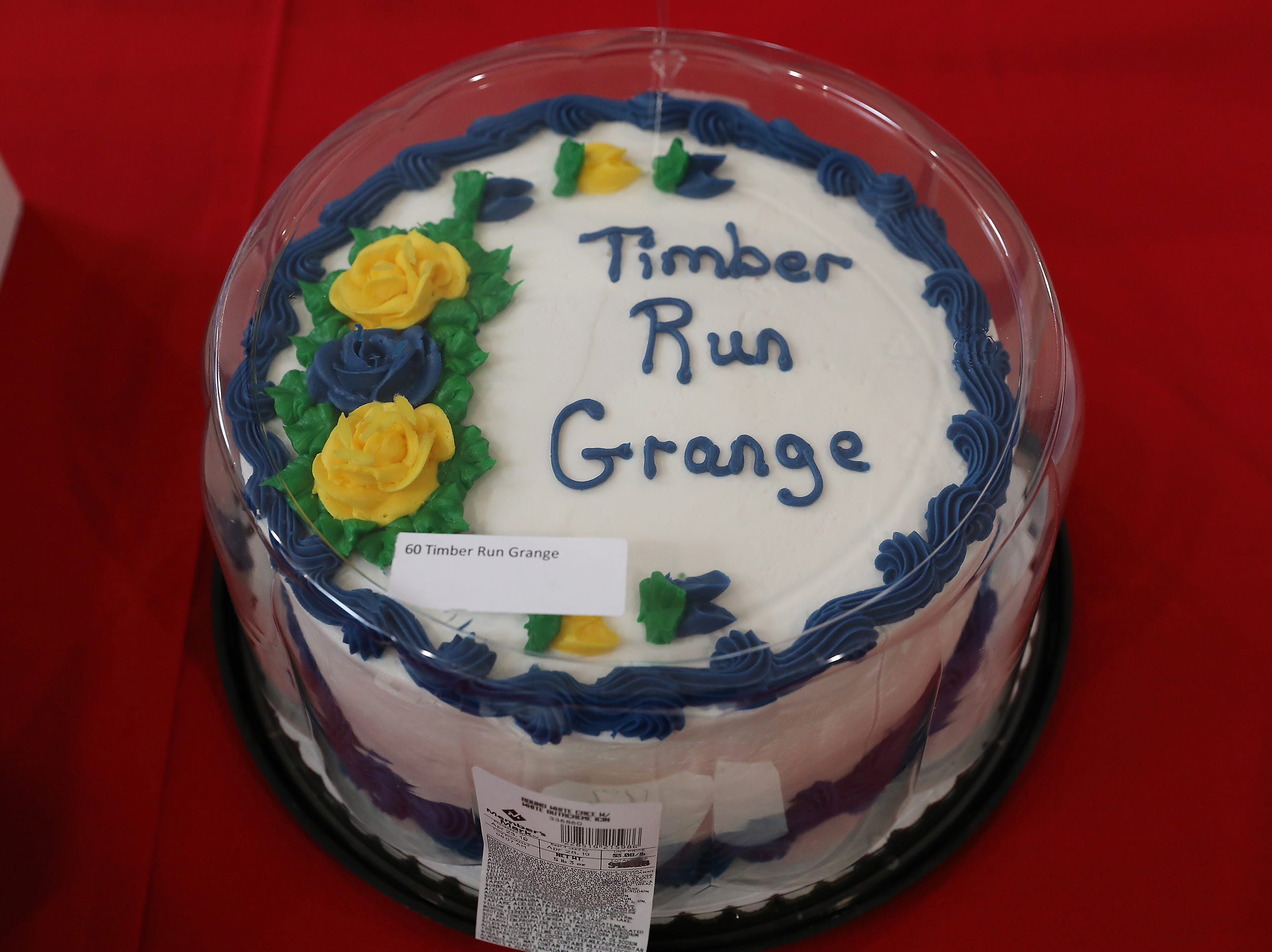 10:45 A.M. Thursday cake 60 Timber Run Grange - 1 night cabin stay at Friendly Hill Campgroun; $75