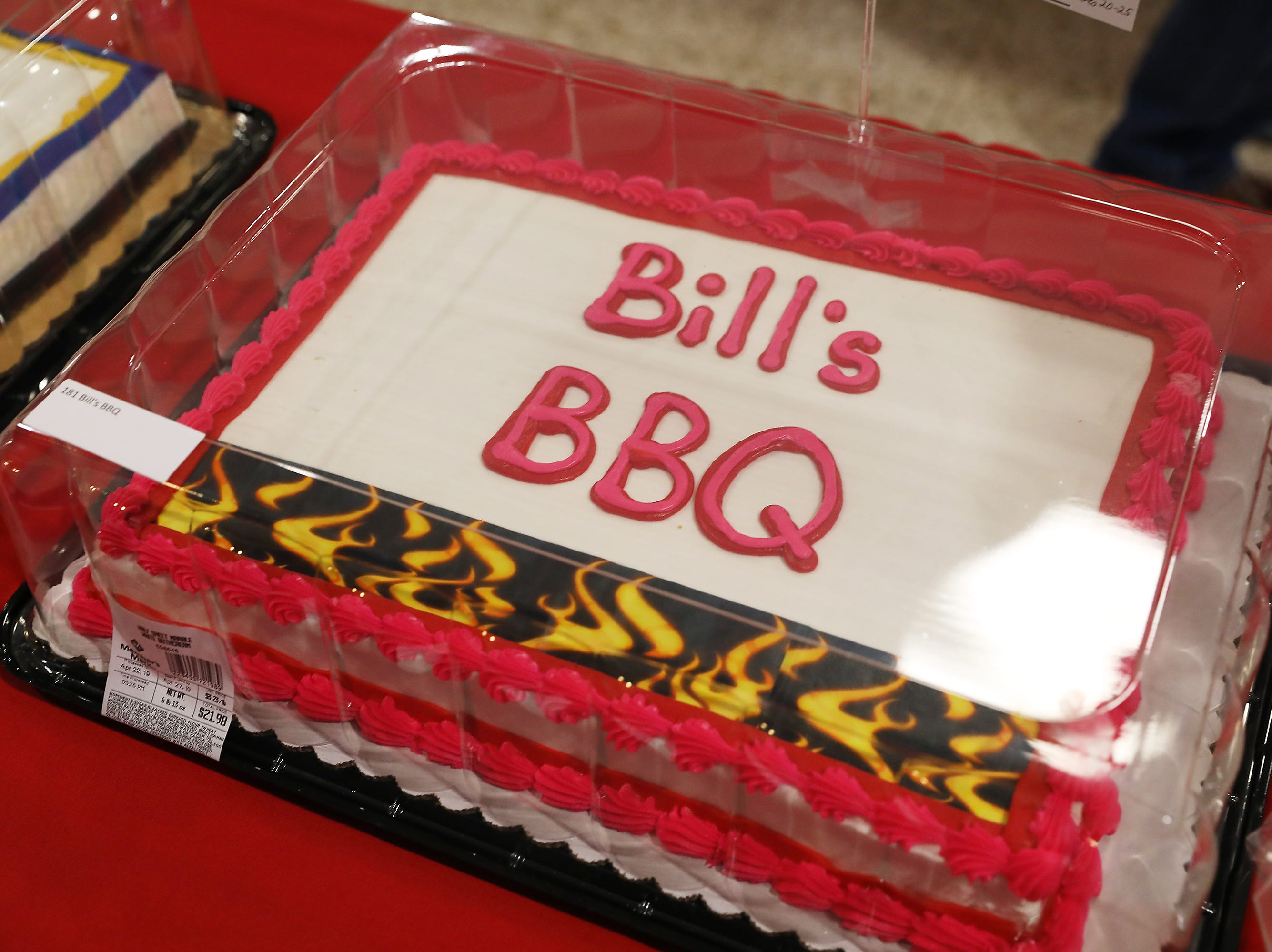 4:45 P.M. Thursday cake 181 Bill's BBQ - whole hog smoked; $600