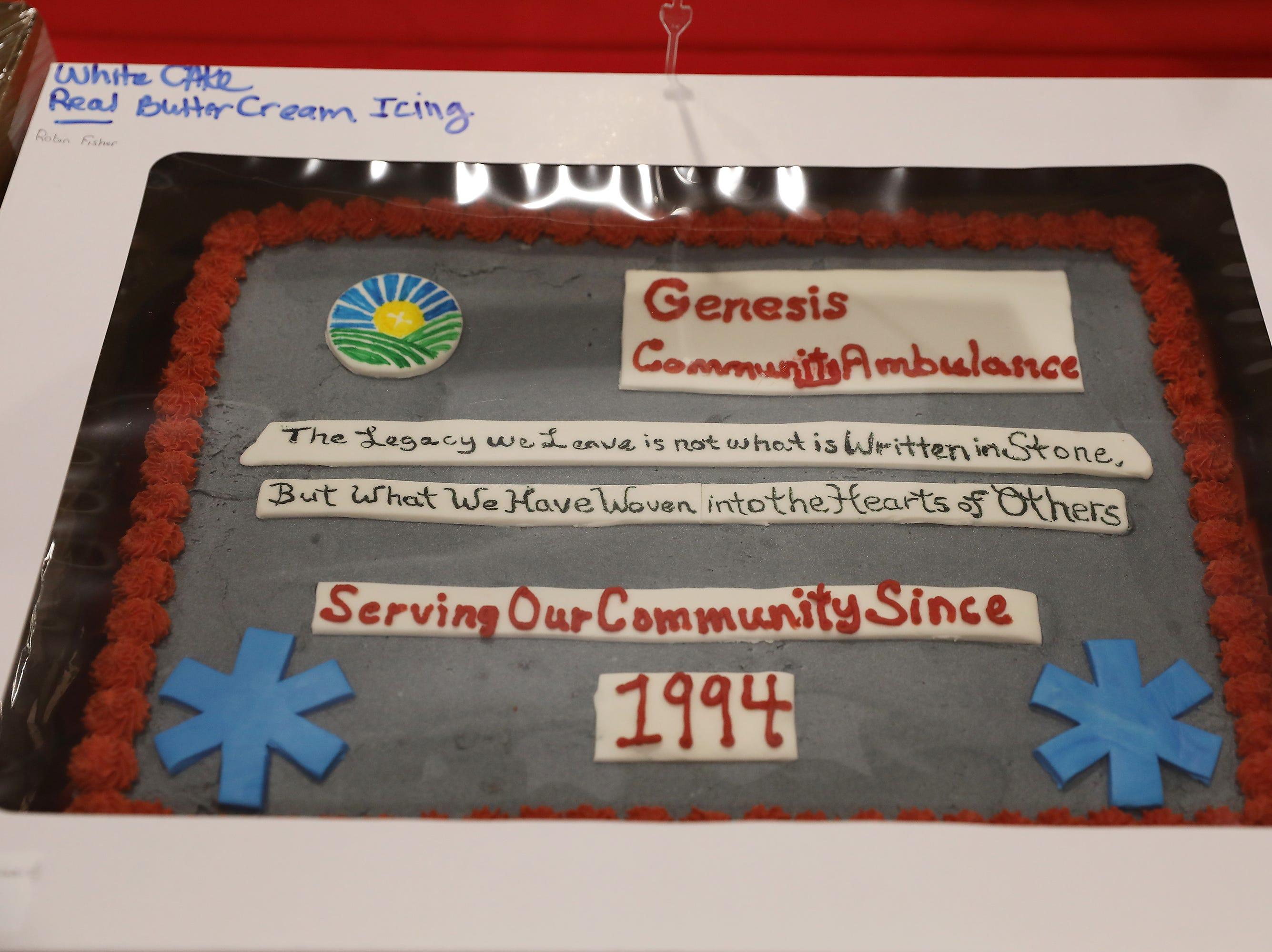1:30 P.M. Friday cake 315 Genesis Community Ambulance.