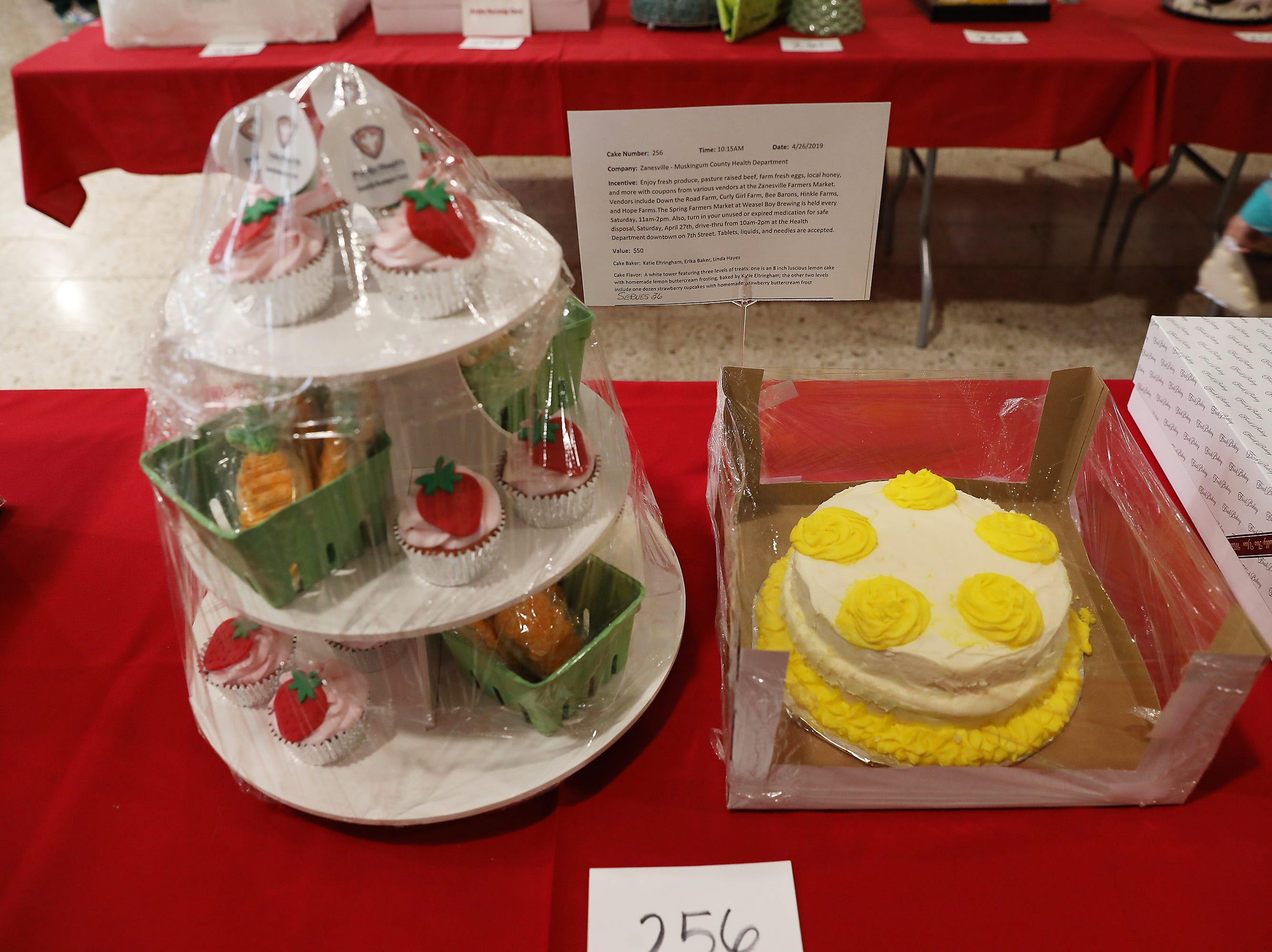 10:15 A.M. Friday cake 256 Zanesville-Muskingum County Health Department - coupons for Zanesville Farmers Market vendors; $50
