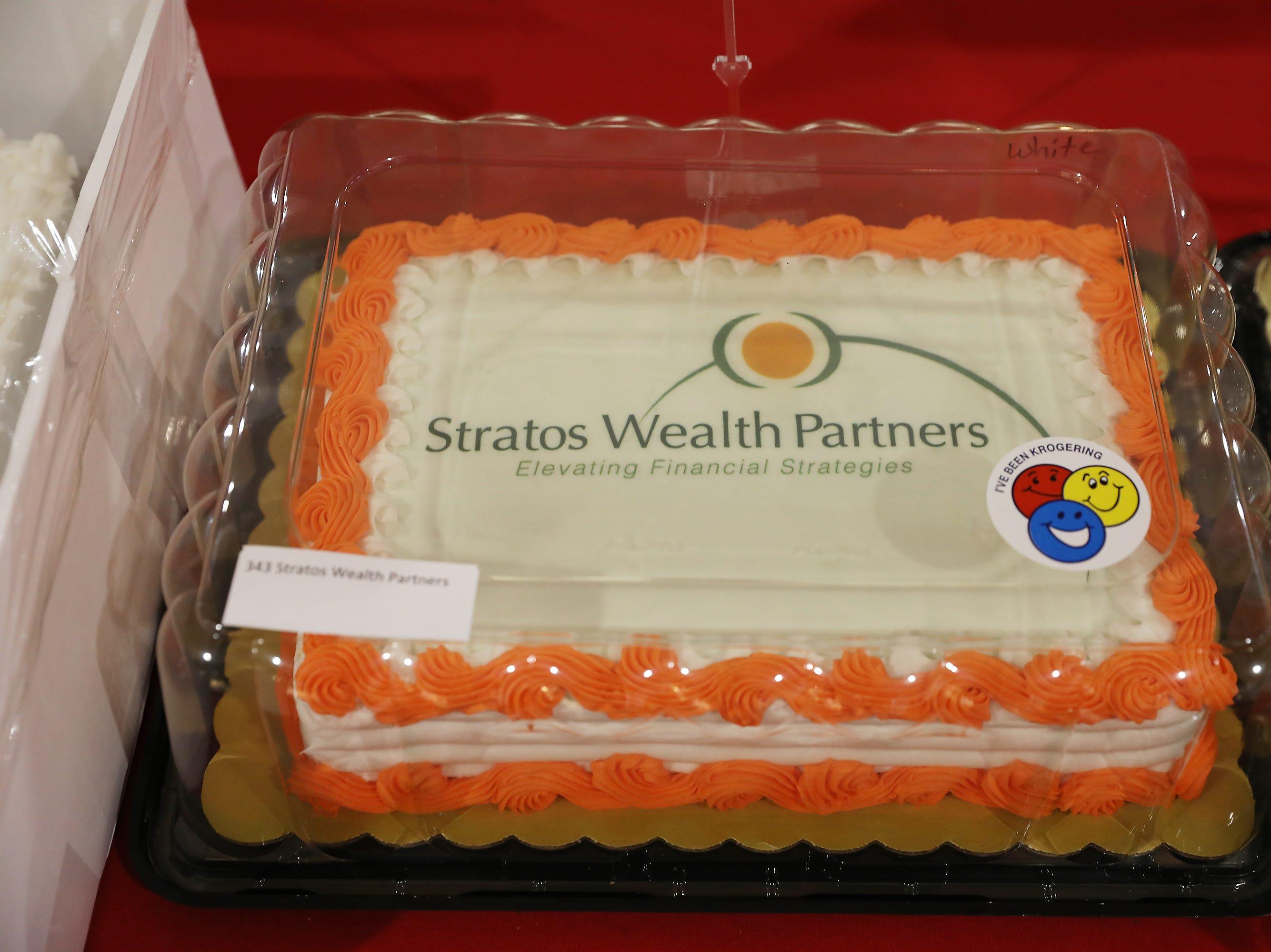 2:45 P.M. Friday cake 343 Stratos Wealth Partners - 2 tickets to Luke Bryan June 7 in Burgettstown, PA; $200