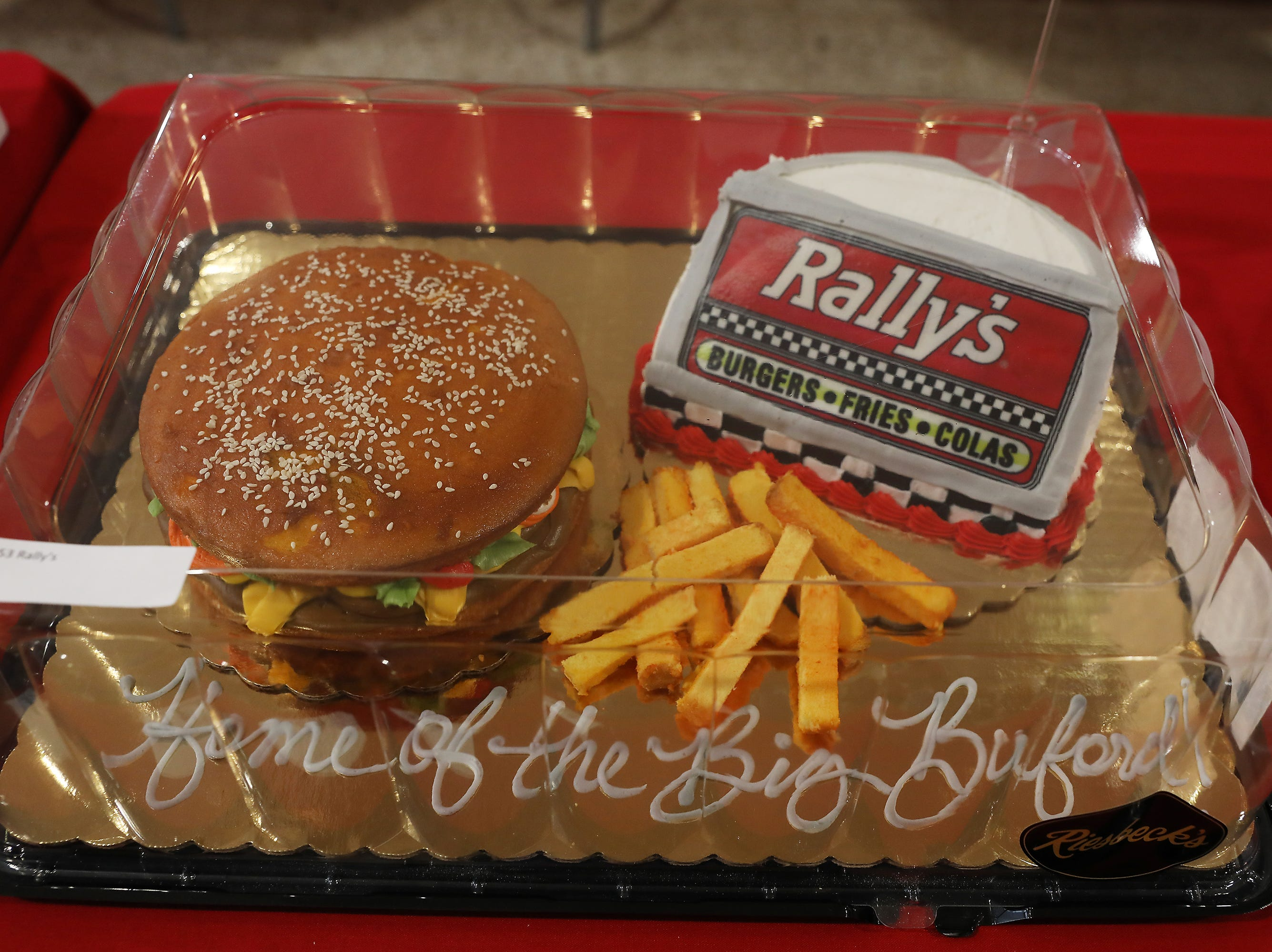 10 A.M. Friday cake 253 Rally's - 12 combos; $100