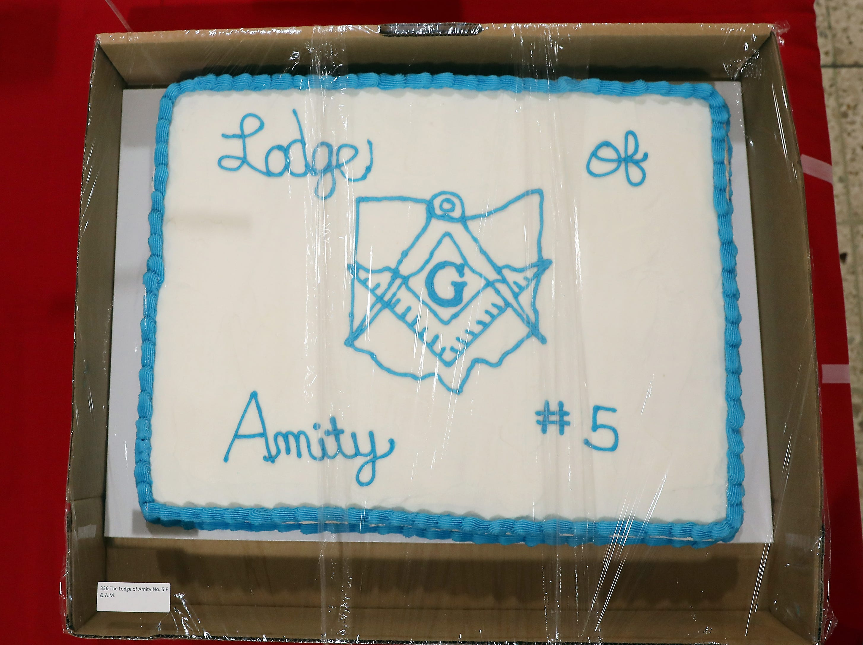 2:30 P.M. Friday cake 336 The Lodge of Amity No. 5 - $50 Old Market House Inn gift card