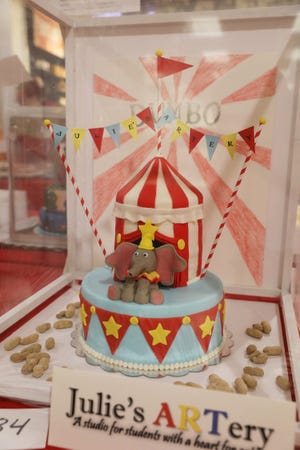 Some of the most popular cakes this year featured Disney character, such as Dumbo.
