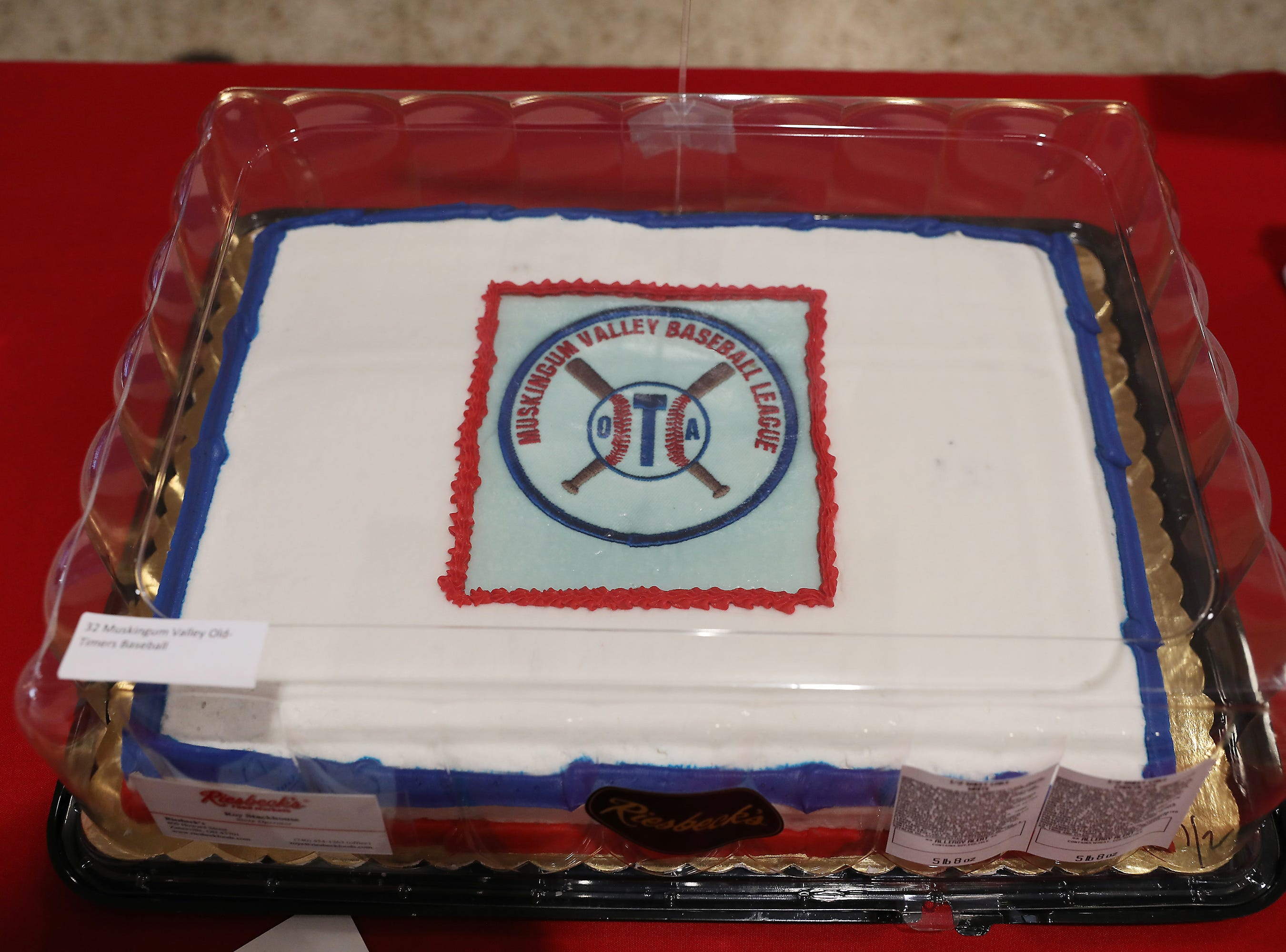 9:30 A.M. Thursday cake 32 Muskingum Valley Old-Timers Baseball - 2 season passes; $50