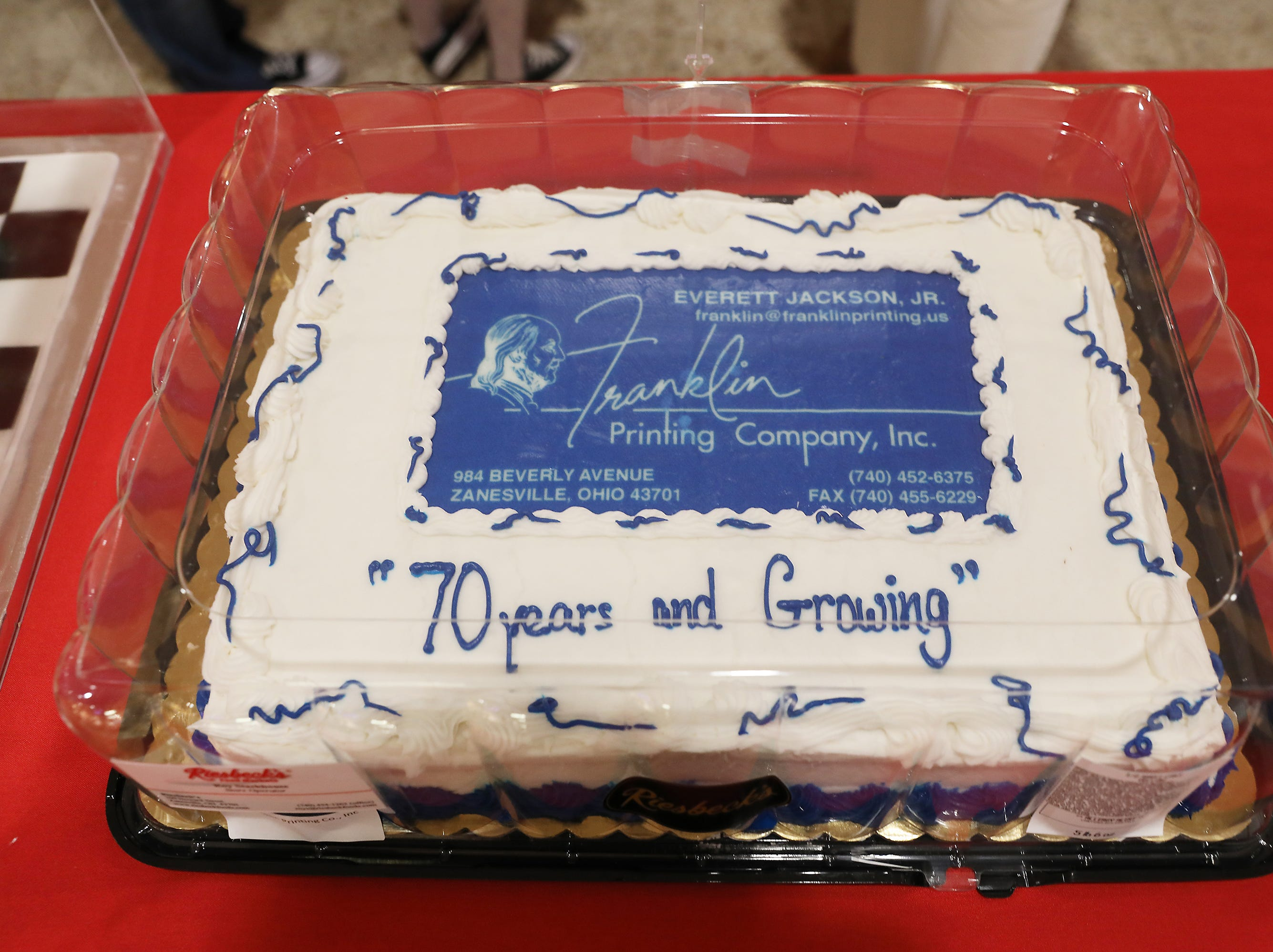 4 P.M. Friday cake 374 Franklin Printing - 1,500 full color advertising cards mailed in county; $400