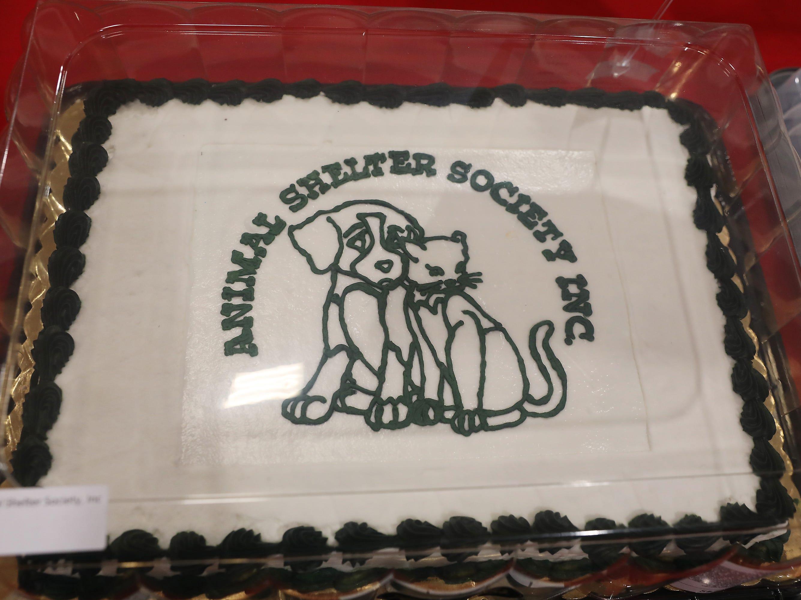 2:15 P.M. Thursday cake 123 Animal Shelter Society - 1 adoption, bag of food; $150