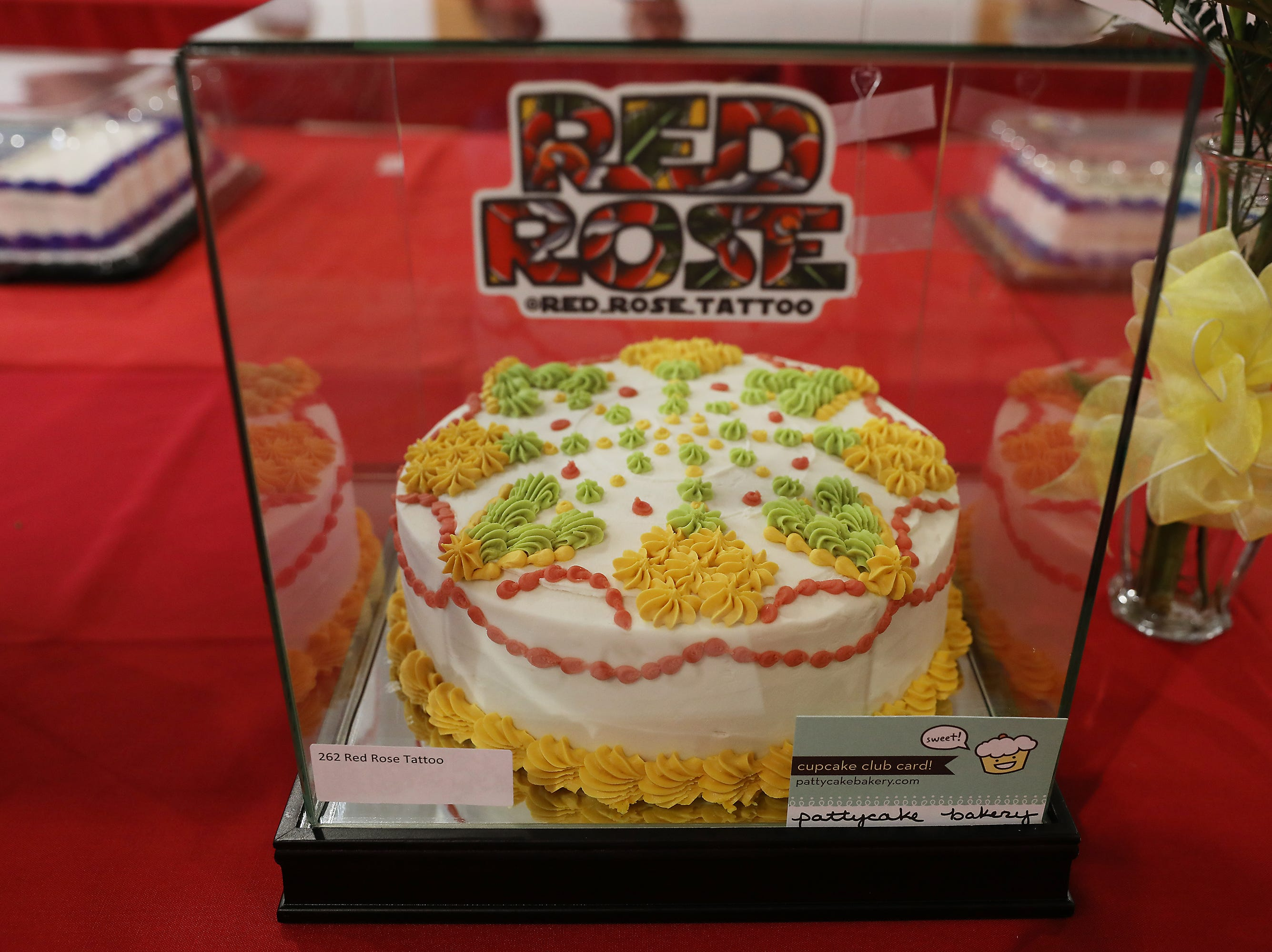 10:30 A.M. Friday cake 262 Red Rose Tattoo - $500 Red Rose gift card