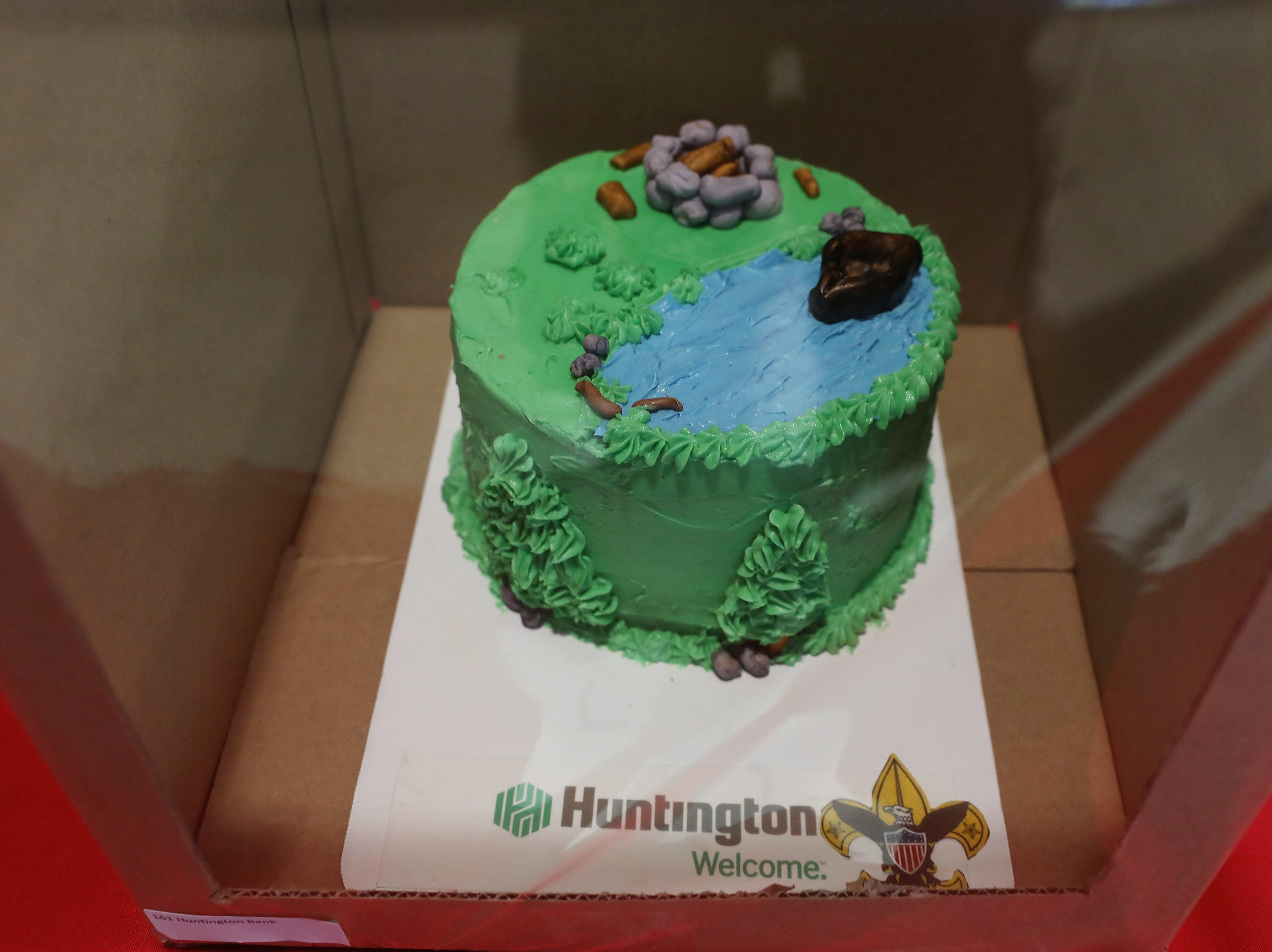 3:45 P.M. Thursday cake 161 Huntington Bank - Boy Scout popcorn, Scout Bucks; $375