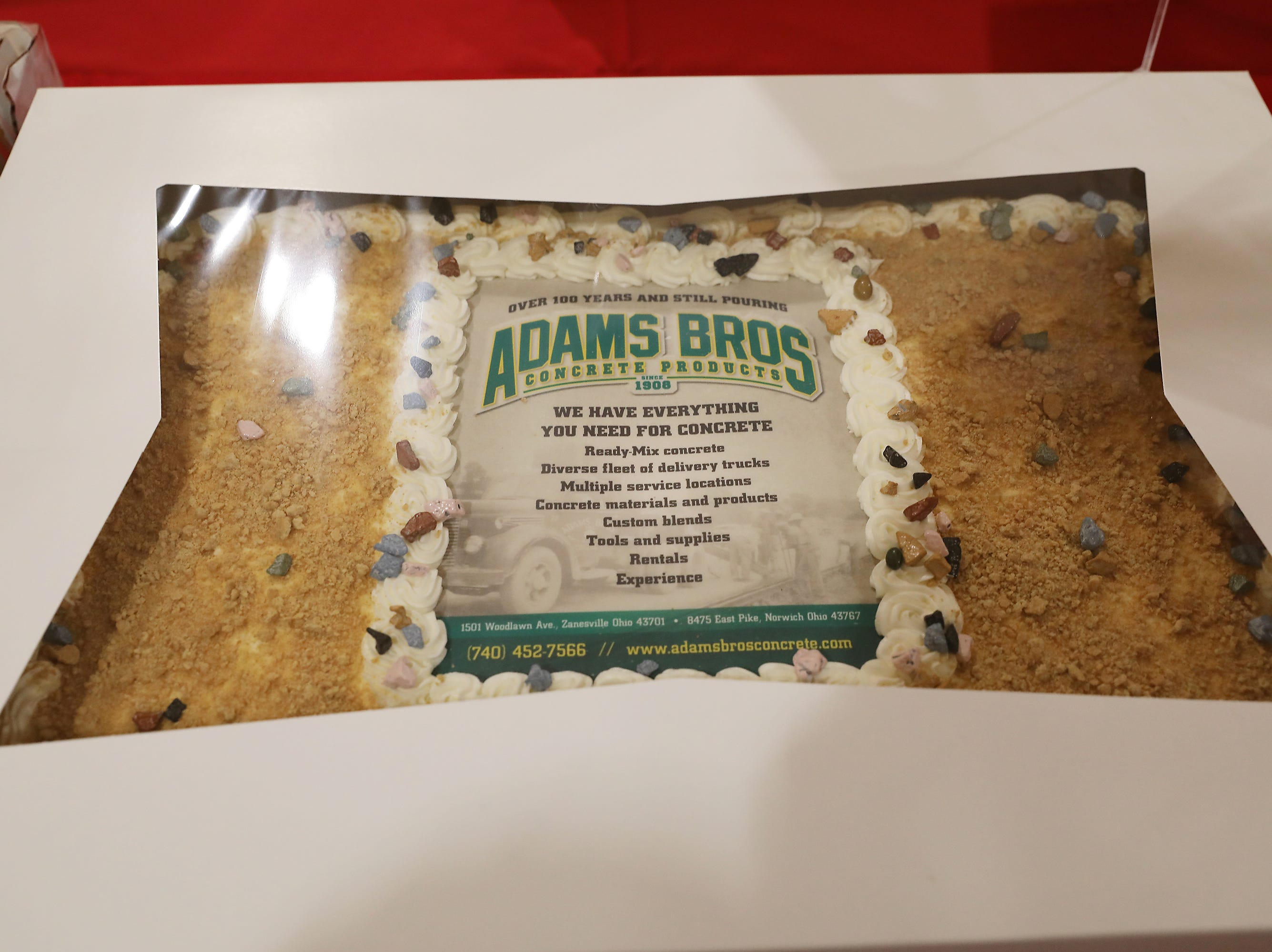 2:40 P.M. Friday cake 339 Adams Bros. - 3 yards of concrete, delivered in county