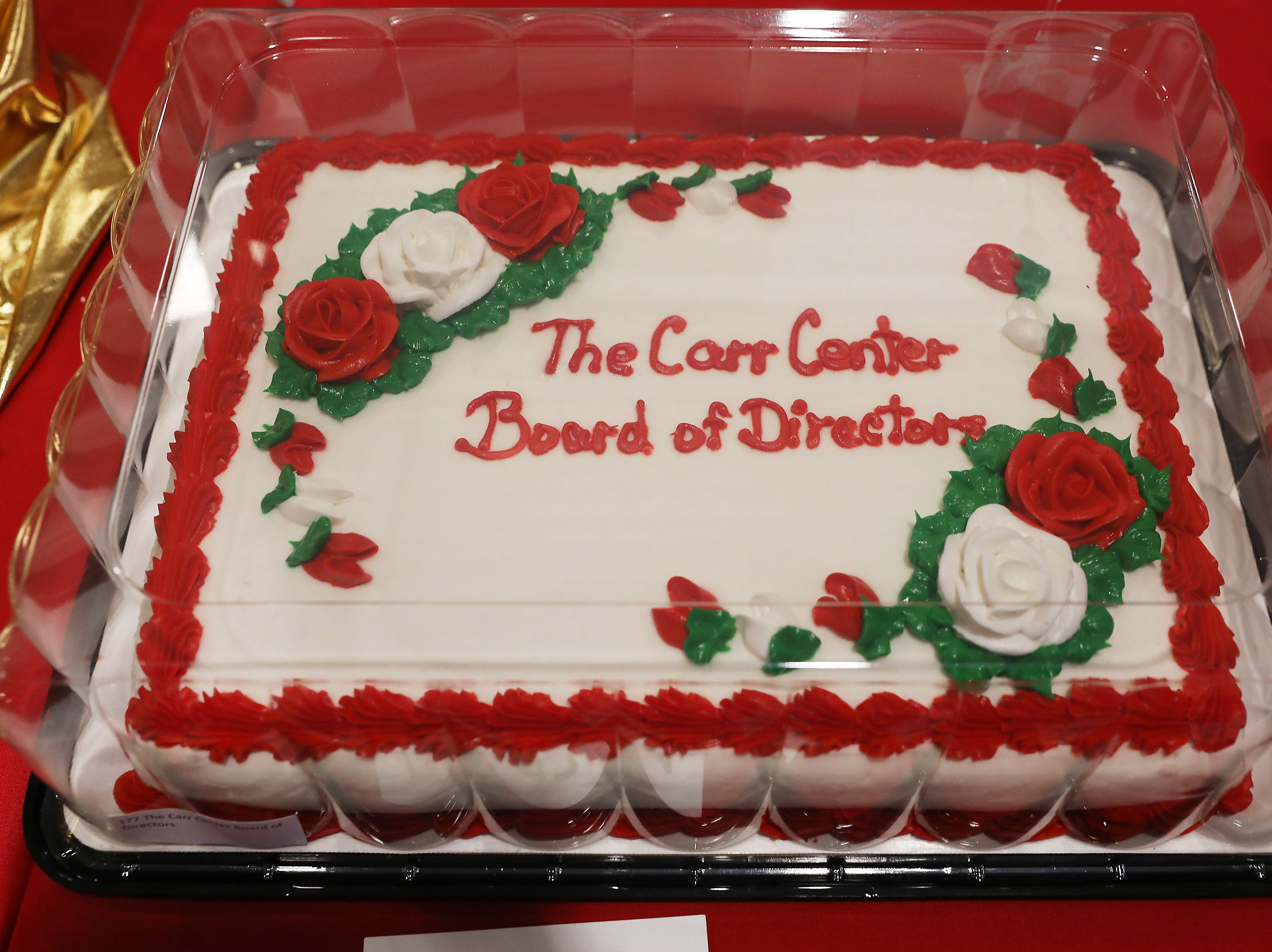 4:30 P.M. Thursday cake 177 The Carr Center Board of Directors - $500 gift card to The Wilds.