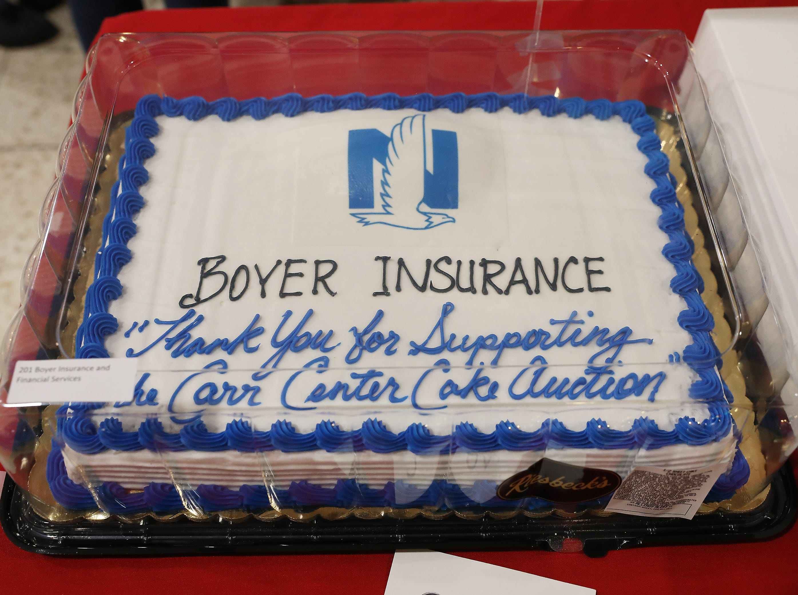 5:30 P.M. Thursday cake 201 Boyer Insurance and Financial Services - 2 tickets to Memorial Tournament, parking pass, shuttle, hospitality tent for 2