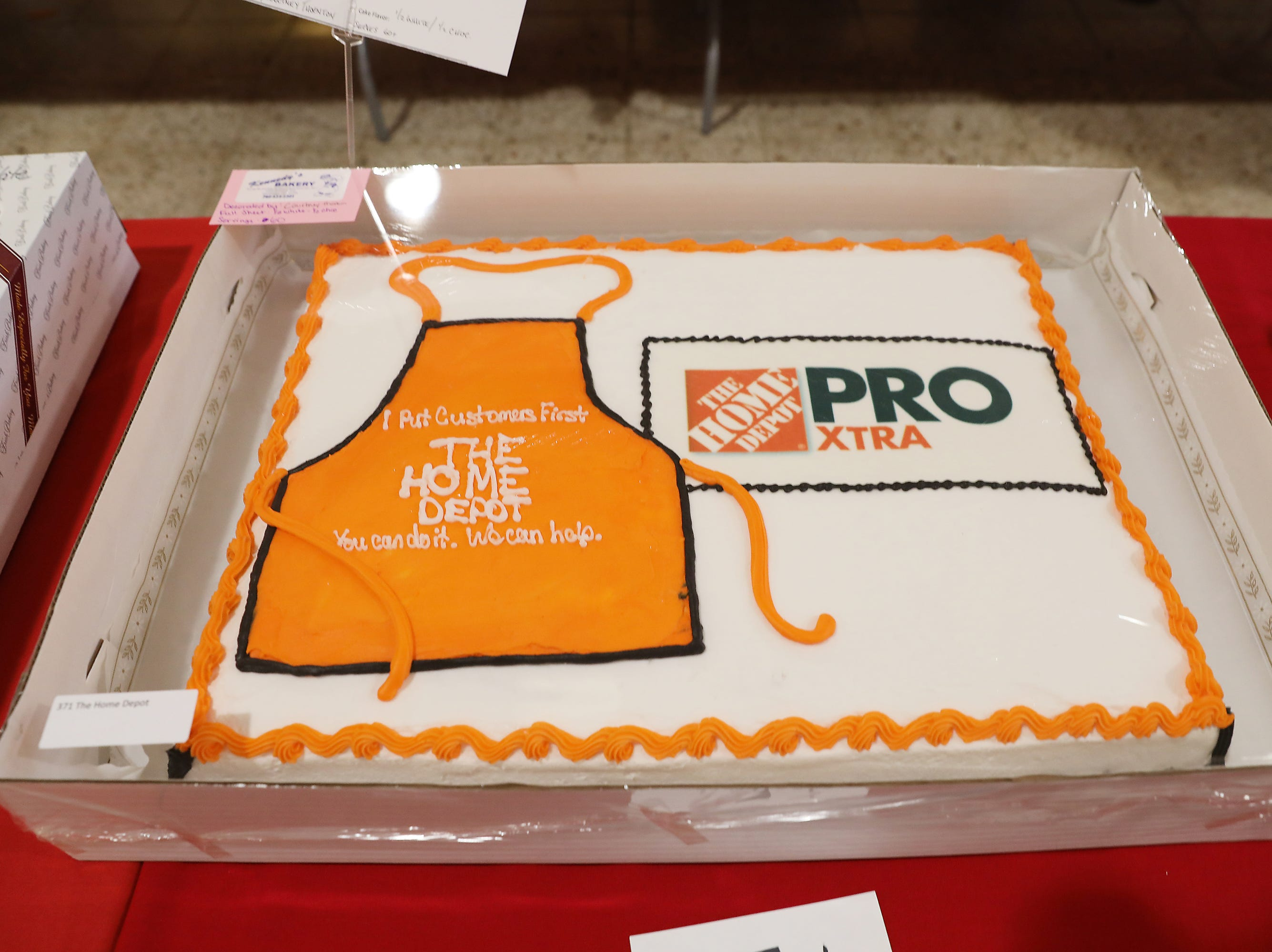 4 P.M. Friday cake 371 The Home Depot - grill, accessories; $250