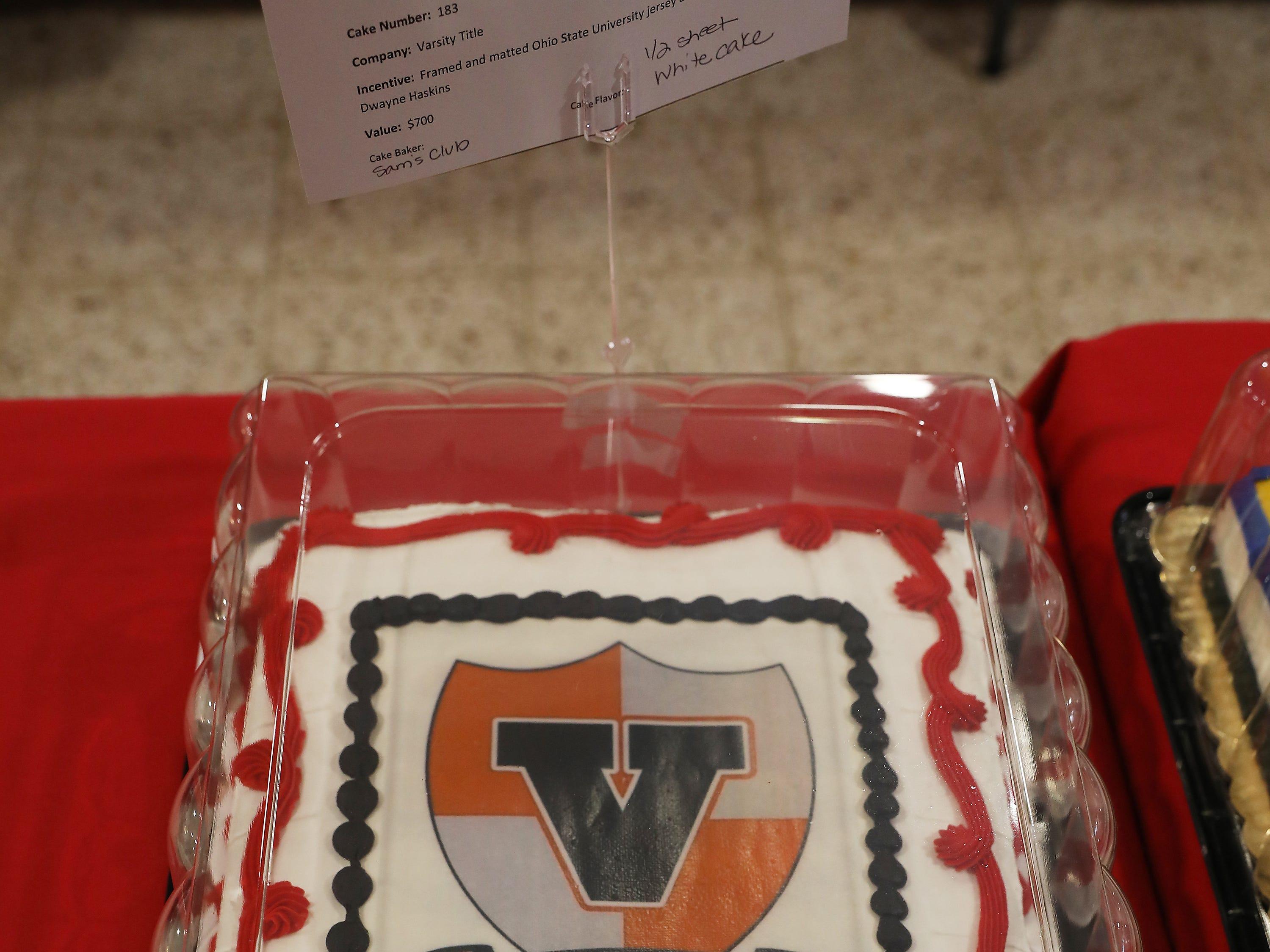 4:45 P.M. Thursday cake 183 Varsity Title - Ohio State University jersey autographed by Dwayne Haskins; $700