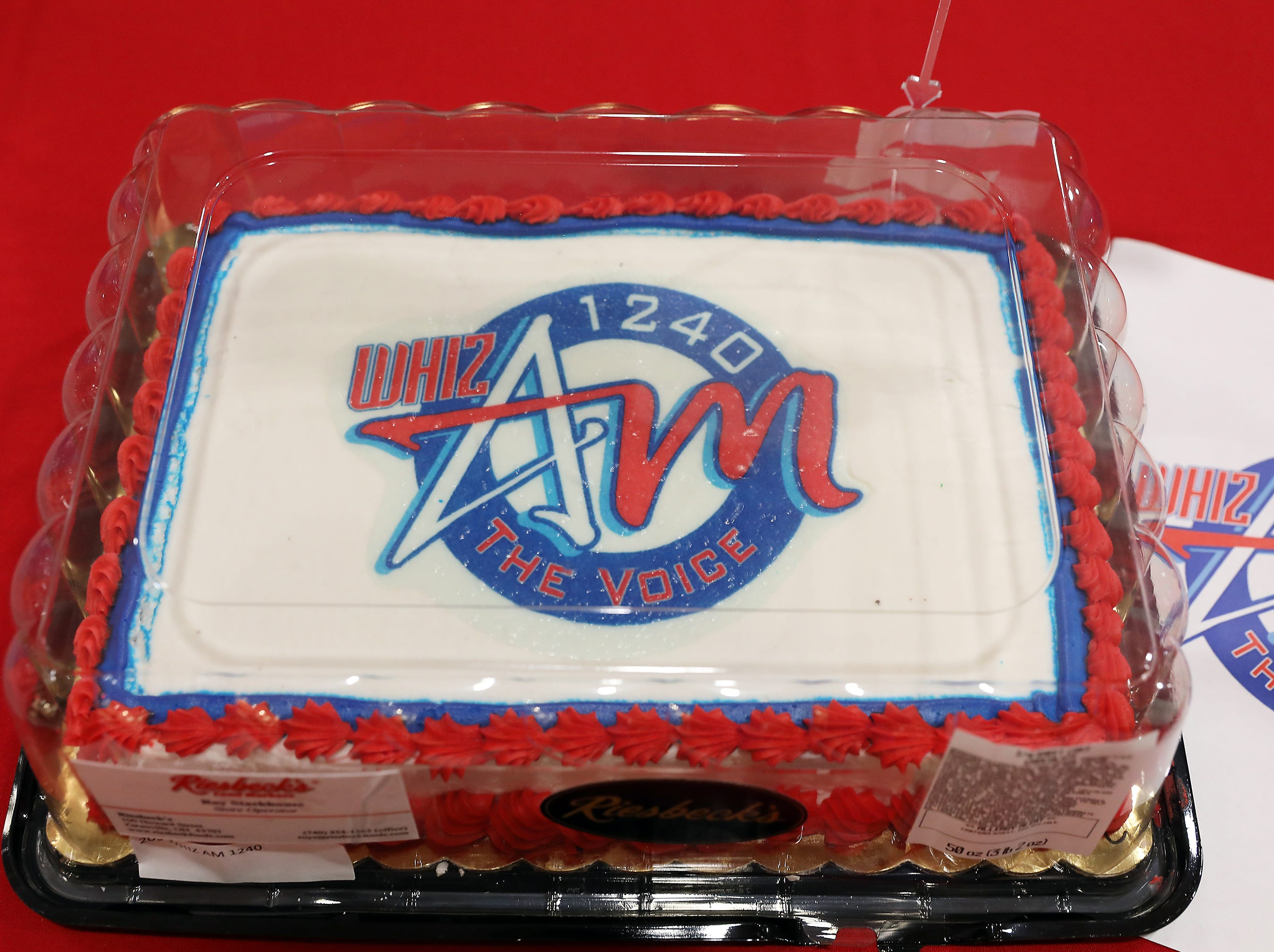 8:15 A.M. Friday cake 209 WHIZ AM 1240 -  2 tickets to Reds game July 7