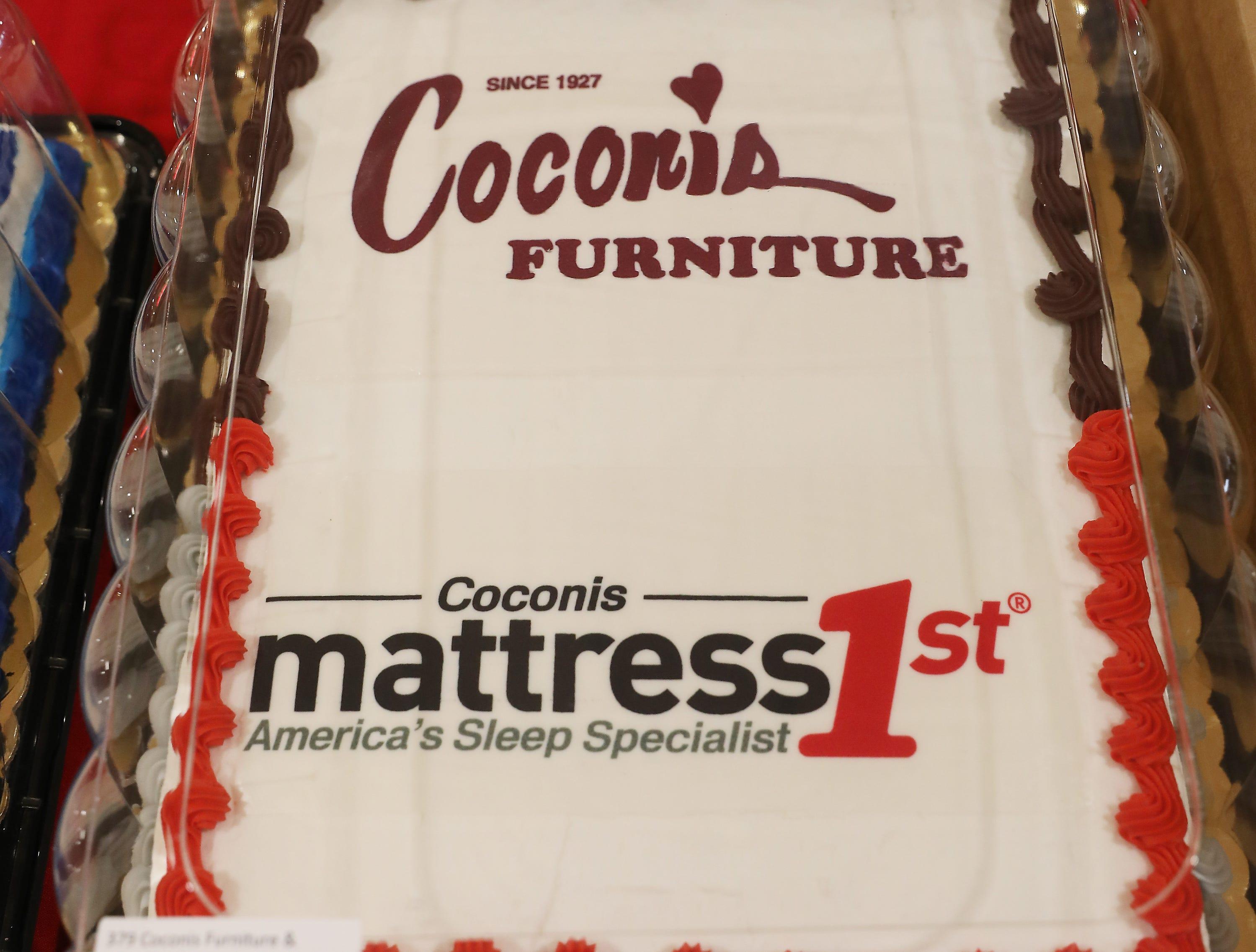 4:15 P.M. Friday cake 379 Coconis Furniture & Mattress 1st - $500 gift card, digital billboard display message; $1,000