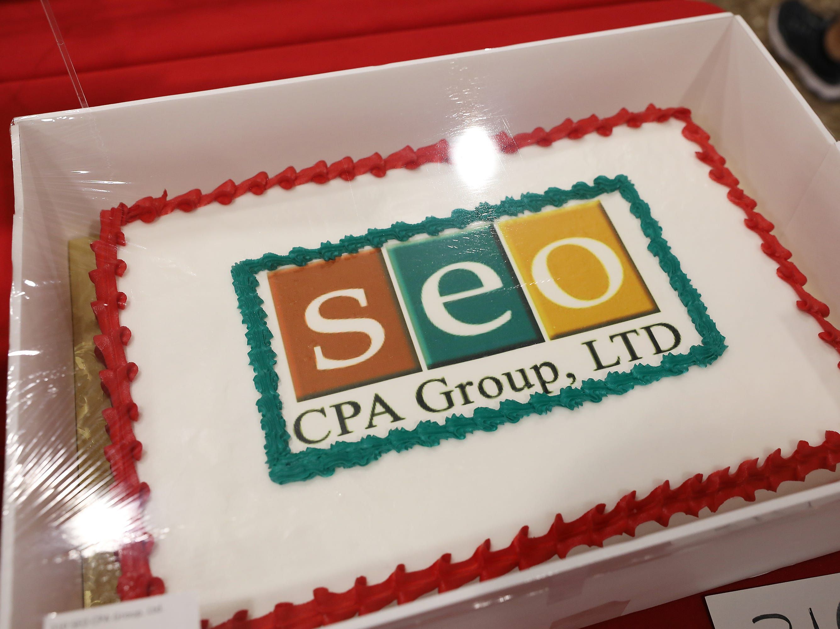 1:15 P.M. Friday cake 310 SEO CPA Group. - $50 American Pride gift card, $25 gift cards to Bee Clean Car Wash and Creno's
