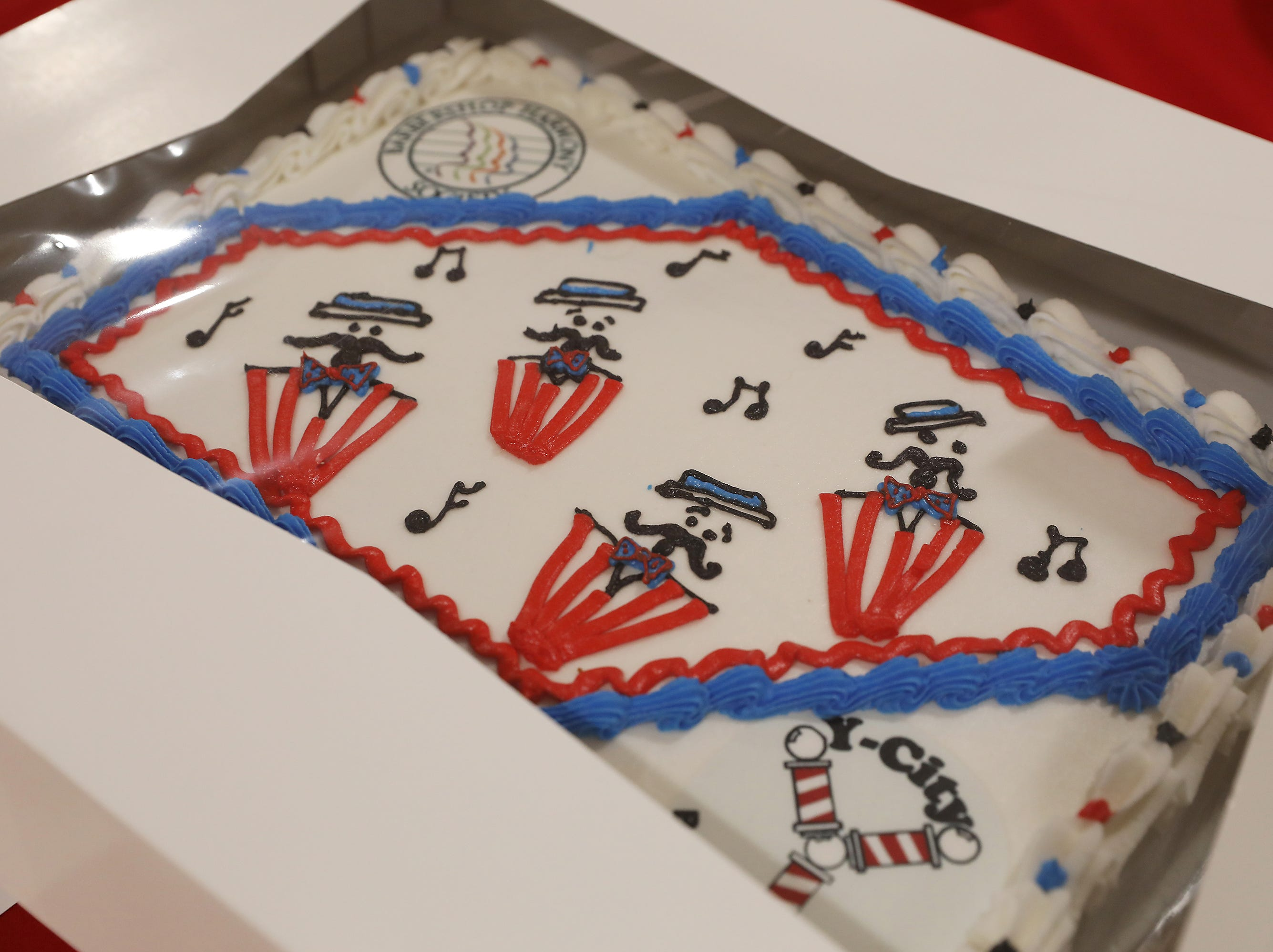 11:30 A.M. Friday cake 287 Y-City Barbershop Chorus/The Barbershop Harmony Society - 4 tickets to annual show in September; $60