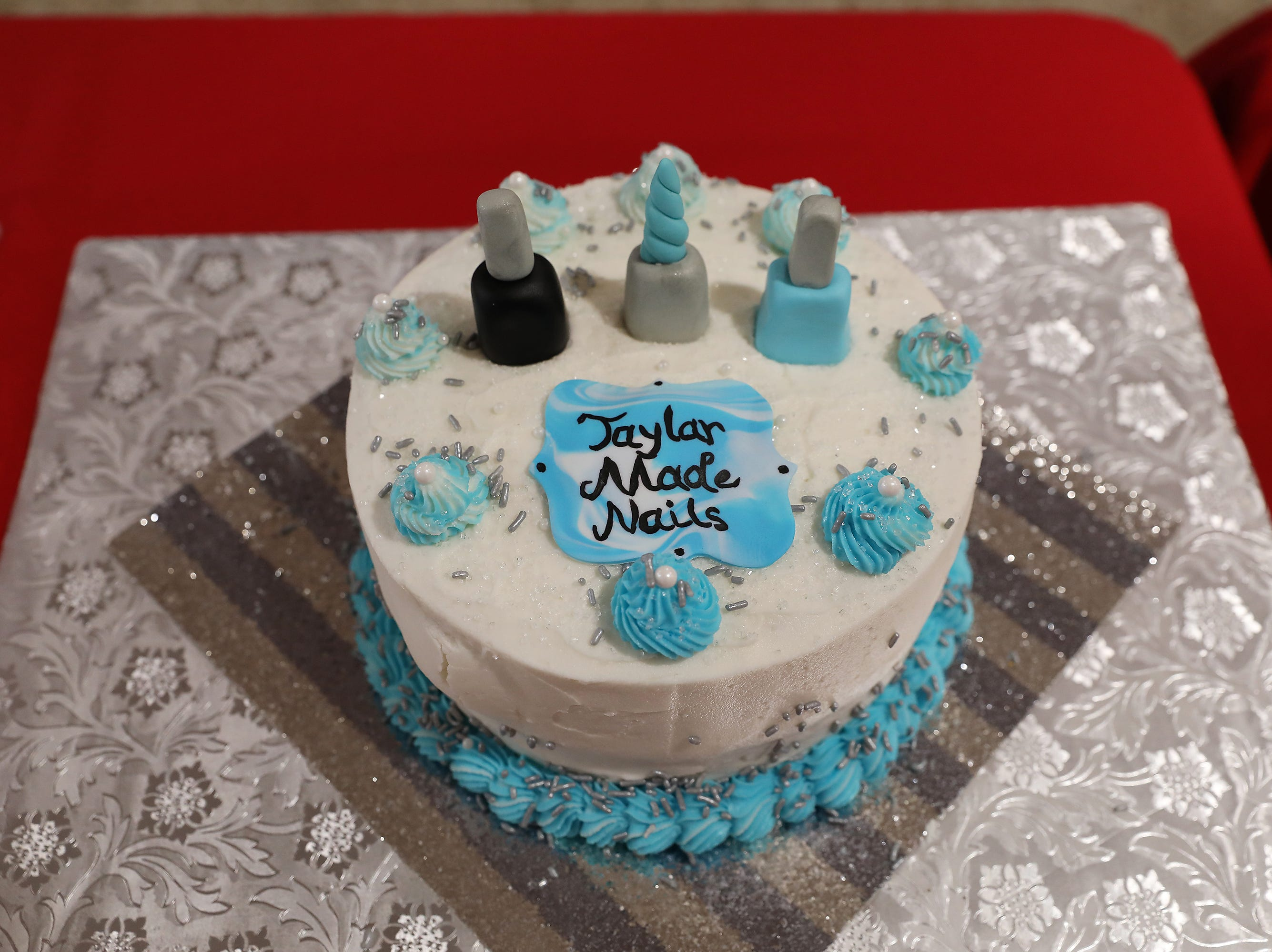 9:30 A.M. Thursday cake 34 Taylar Made Nails - 3 gift certificates for a shellac manicure and pedicure; $225