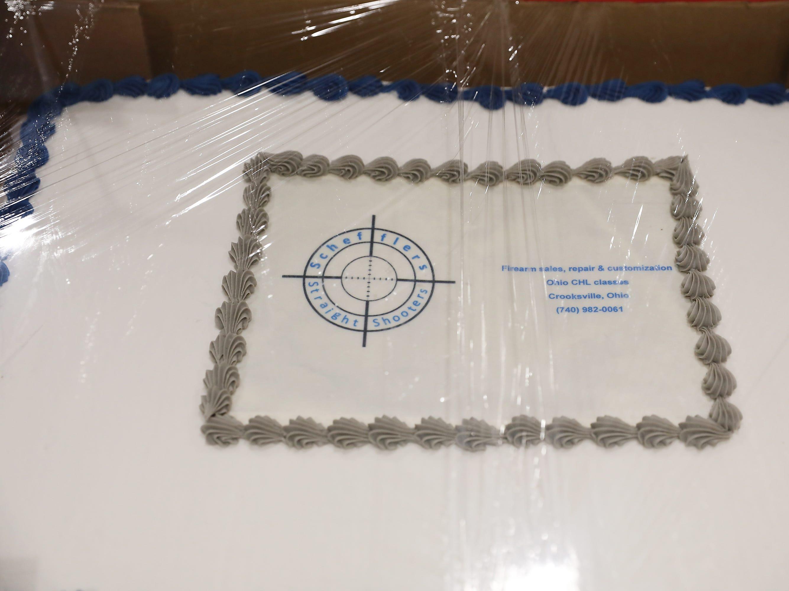 1:30 P.M. Friday cake 314 Scheffler's Straight Shooters - custom Duracoat gift card, discount on Ohio CHL class, custom Kydex Holster gift card; $310