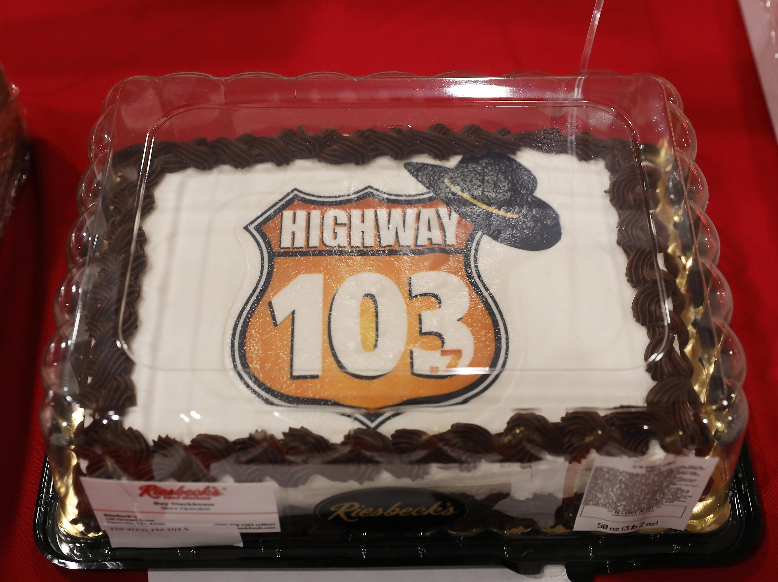 1:45 P.M. Friday cake 319 WZVL FM 103.7 - tickets to Alan Jackson on May 10, 4 tickets to the Professional Bull Riding on April 27 in Columbus; $422