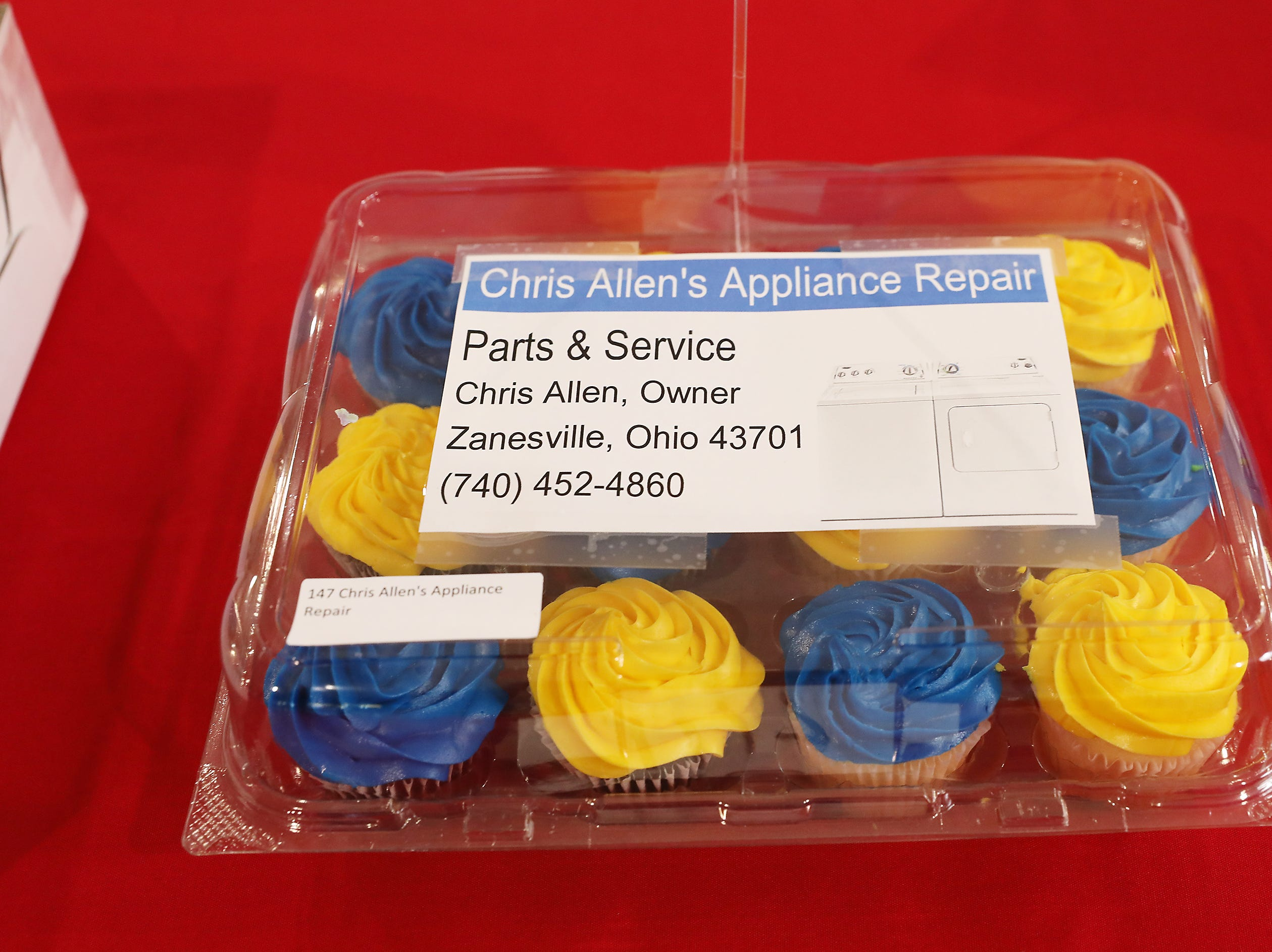 3:15 P.M. Thursday cake 147 Chris Allen's Appliance Repair - $30 Netflix gift card, $20 Domino's gift card, snack; $70