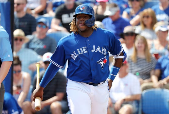 Vladimir Guerrero Jr. hit a combined .381 with 20 home runs and 78 RBI last season at four minor-league levels.