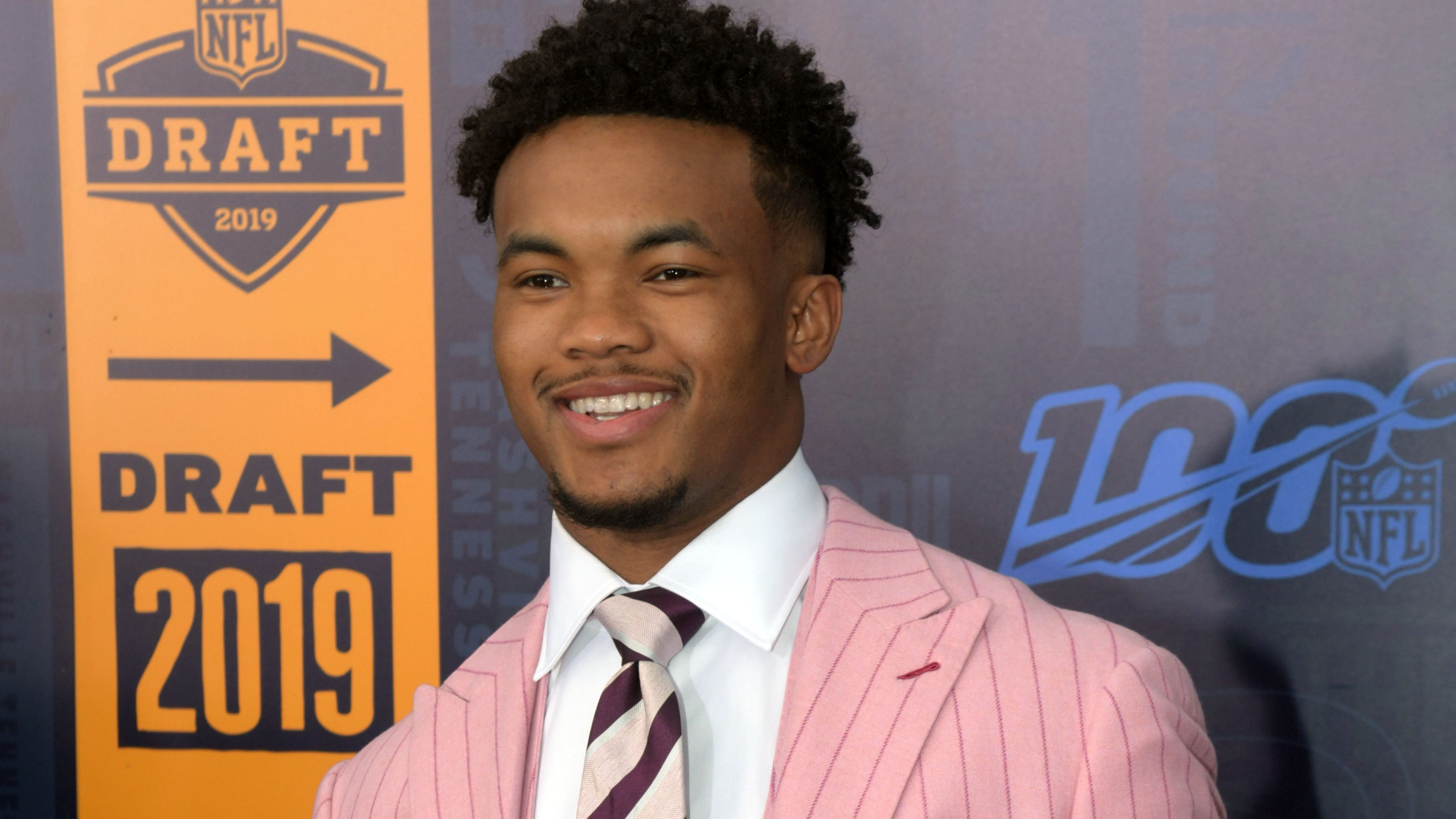 Former Oklahoma QB Kyler Murray on the red carpet of the NFL draft in Nashville.