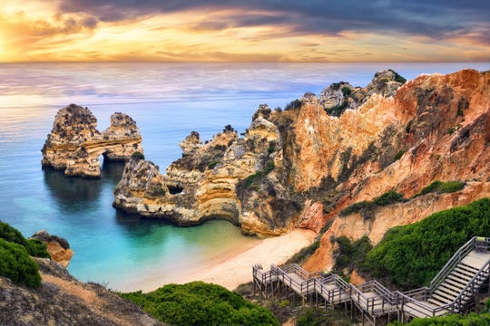 Some of Europe's best beaches are in Portugal's Algarve Region, where white-sand beaches, rocky cliffs and brightly colored fishing towns echo Italy's Amalfi Coast.