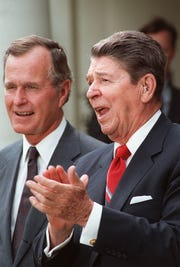 President Ronald Reagan and Vice President George H.W. Bushin 1987.