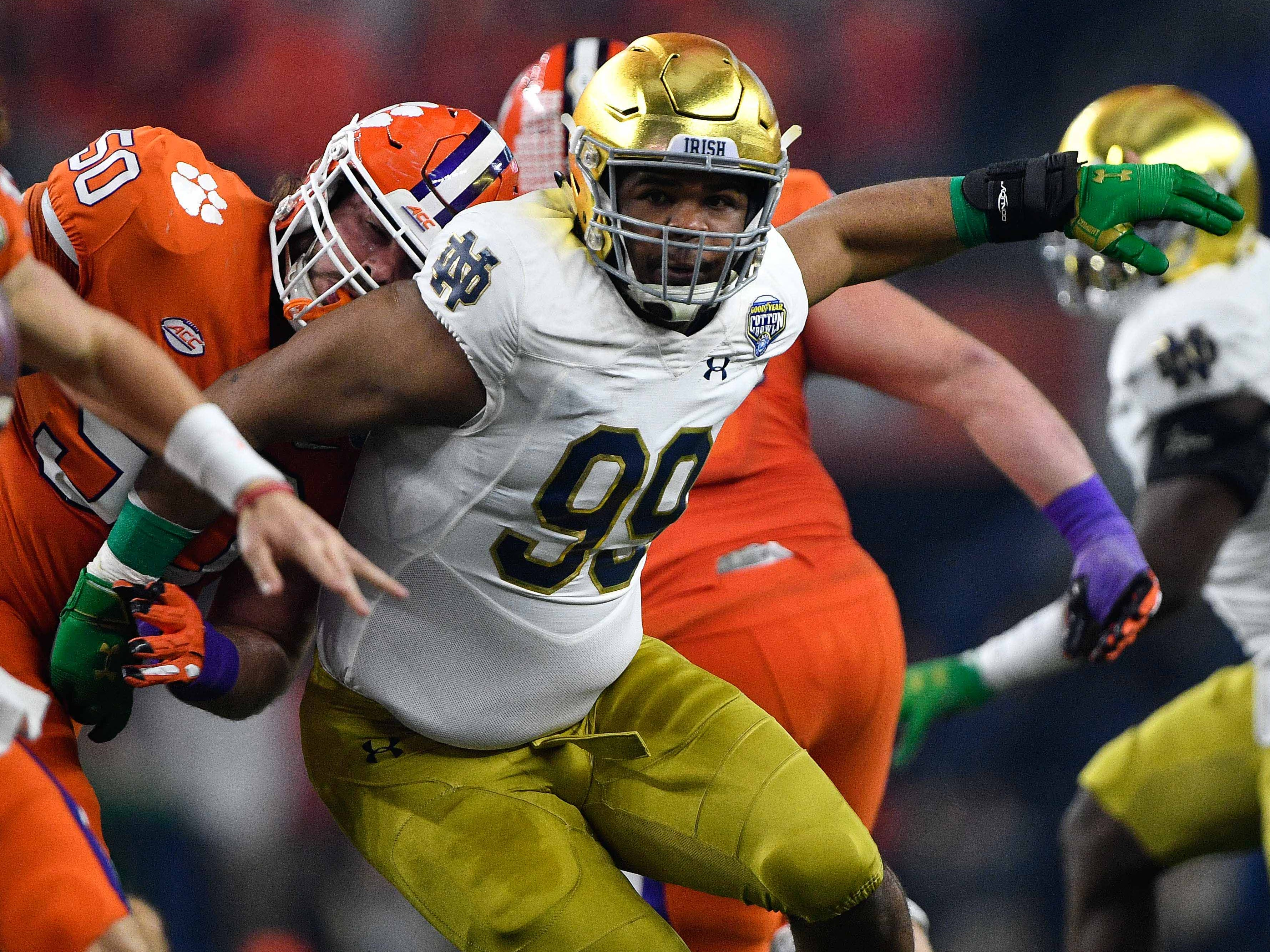 28. Chargers — Jerry Tillery, DT, Notre Dame