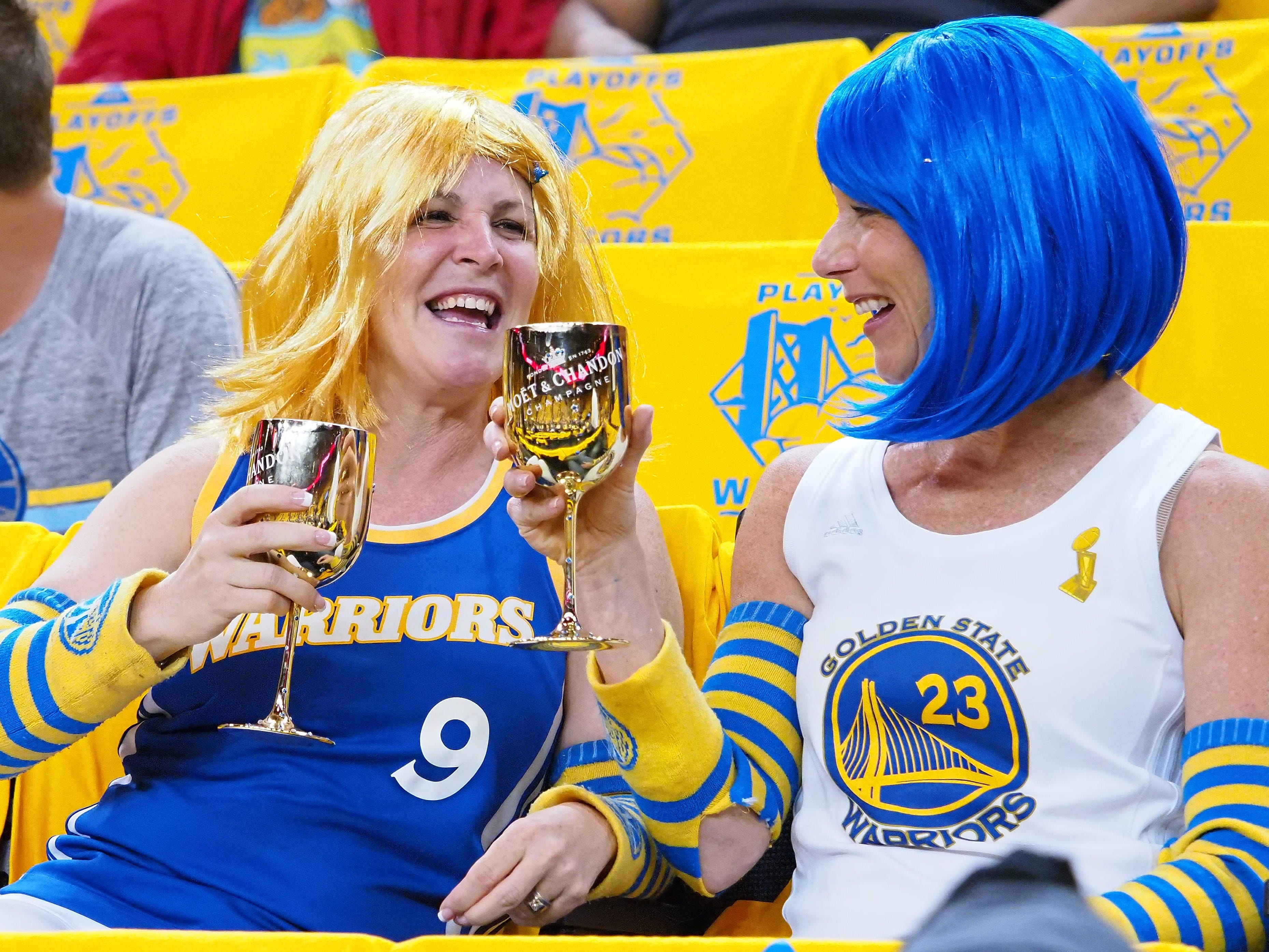 April 24: Warriors fans before Game 5 against the Clippers.