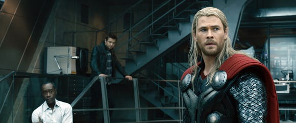 "Back in ""Avengers: Age of Ultron,"" Thor still had the long blond hair. The 'do is long again in ""Endgame,"" but not nearly as well kempt."