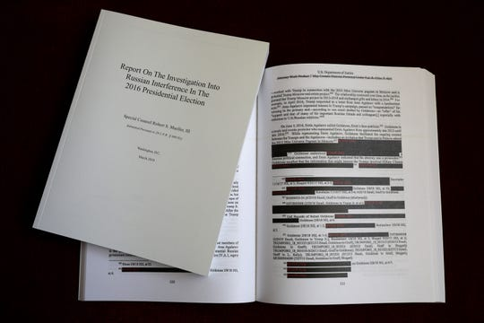 Redacted version of the Mueller report.