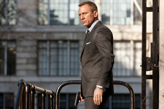 "Seen here as James Bond in ""Skyfall,"" Daniel Craig reprises his 007 role next year in ""No Time to Die."""