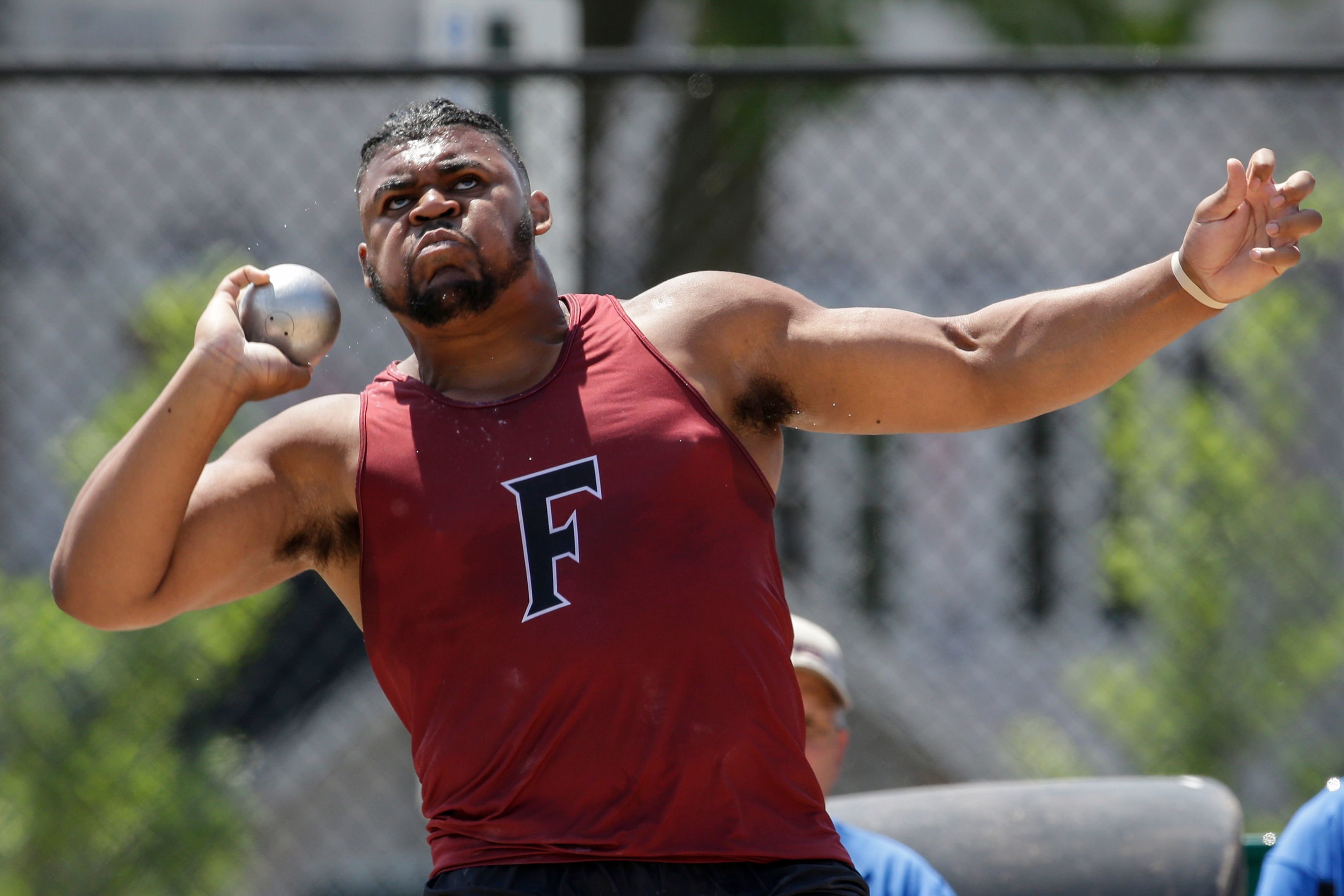 Fond du Lac's Andrew Stone throws in the Division 1 shot put finals last season at the WIAA state track and field meet at Veterans Memorial Stadium in La Crosse.