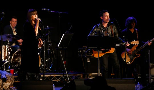 "Jakob Dylan performs with Cat Power at the Paramount Theatre Thursday night, April 25, 2019, after a screening of ""Echo in the Canyon"" at the Asbury Park Music + Film Festival."