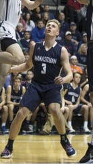 Manasquan's Brad McCabe, shown here during the Shore Conference Tournament on February 23, has Division II scholarship offers, but wants a Division I offer